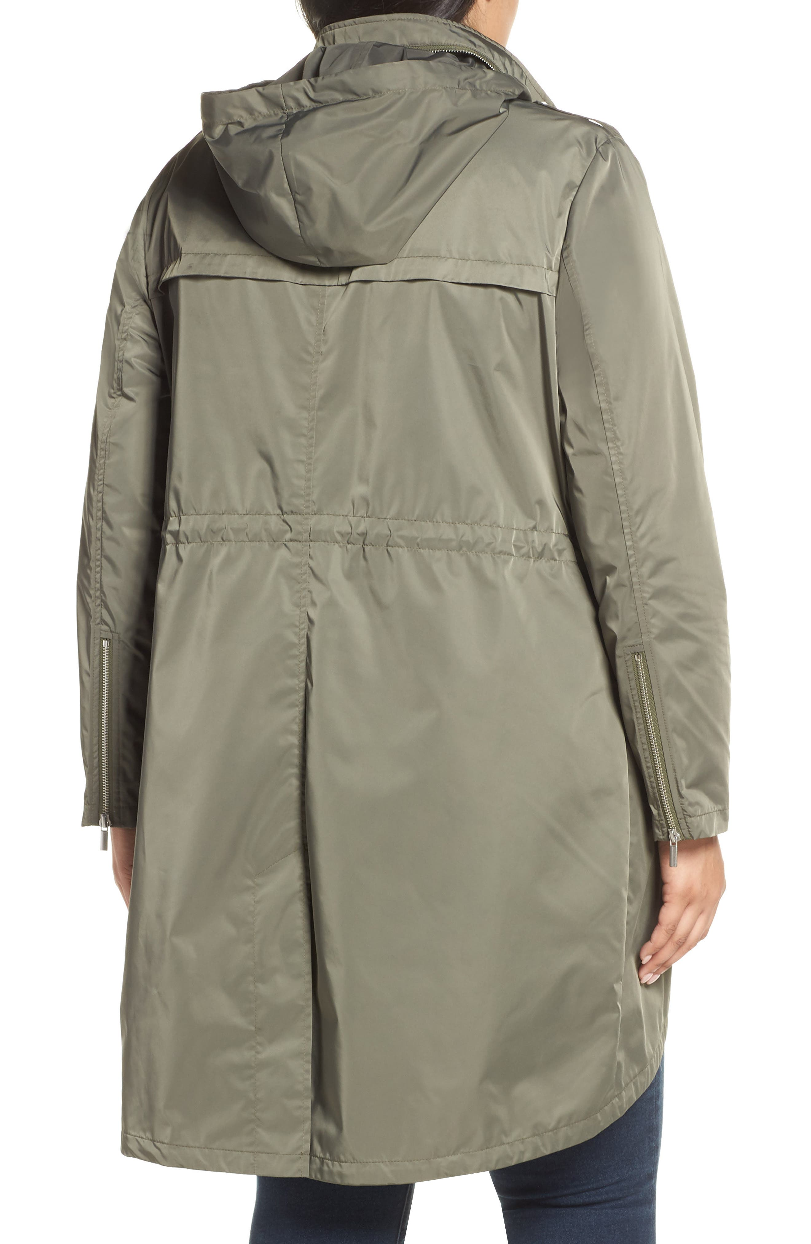 Badgley Mischka Dakota Raincoat,                             Alternate thumbnail 2, color,                             PALM