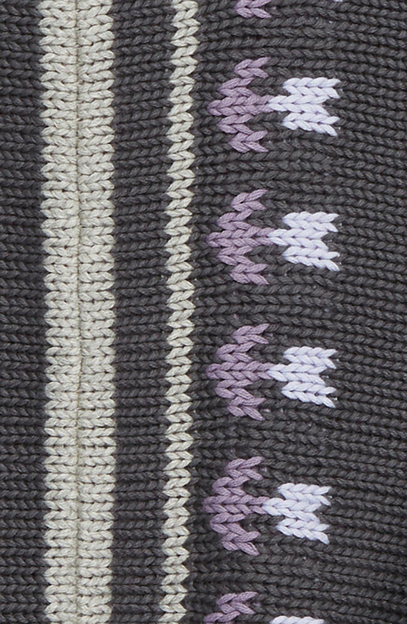 Floral Stripe Knit Poncho,                             Alternate thumbnail 2, color,                             023