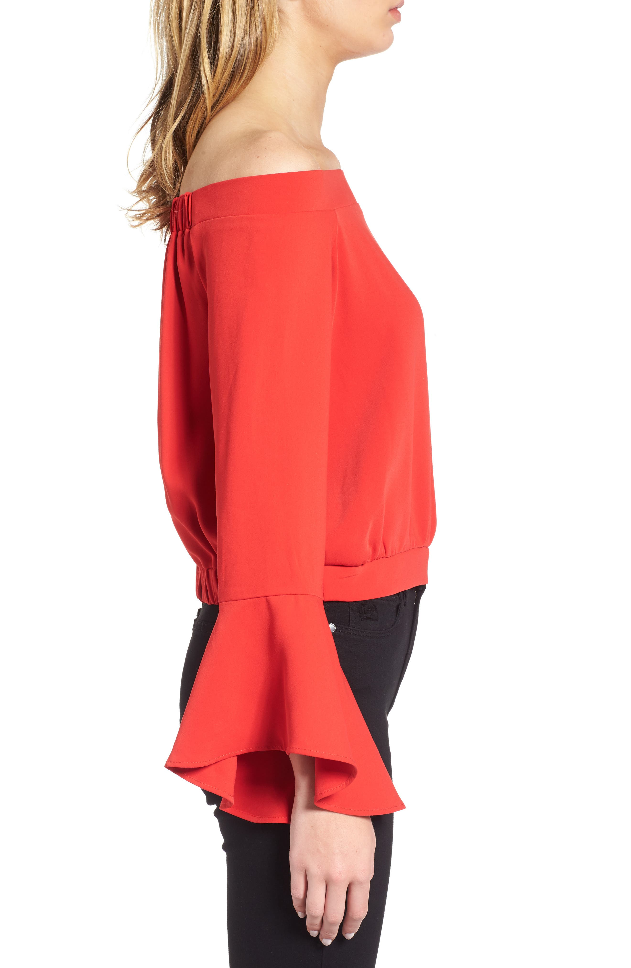 Elson Off the Shoulder Top,                             Alternate thumbnail 3, color,                             620