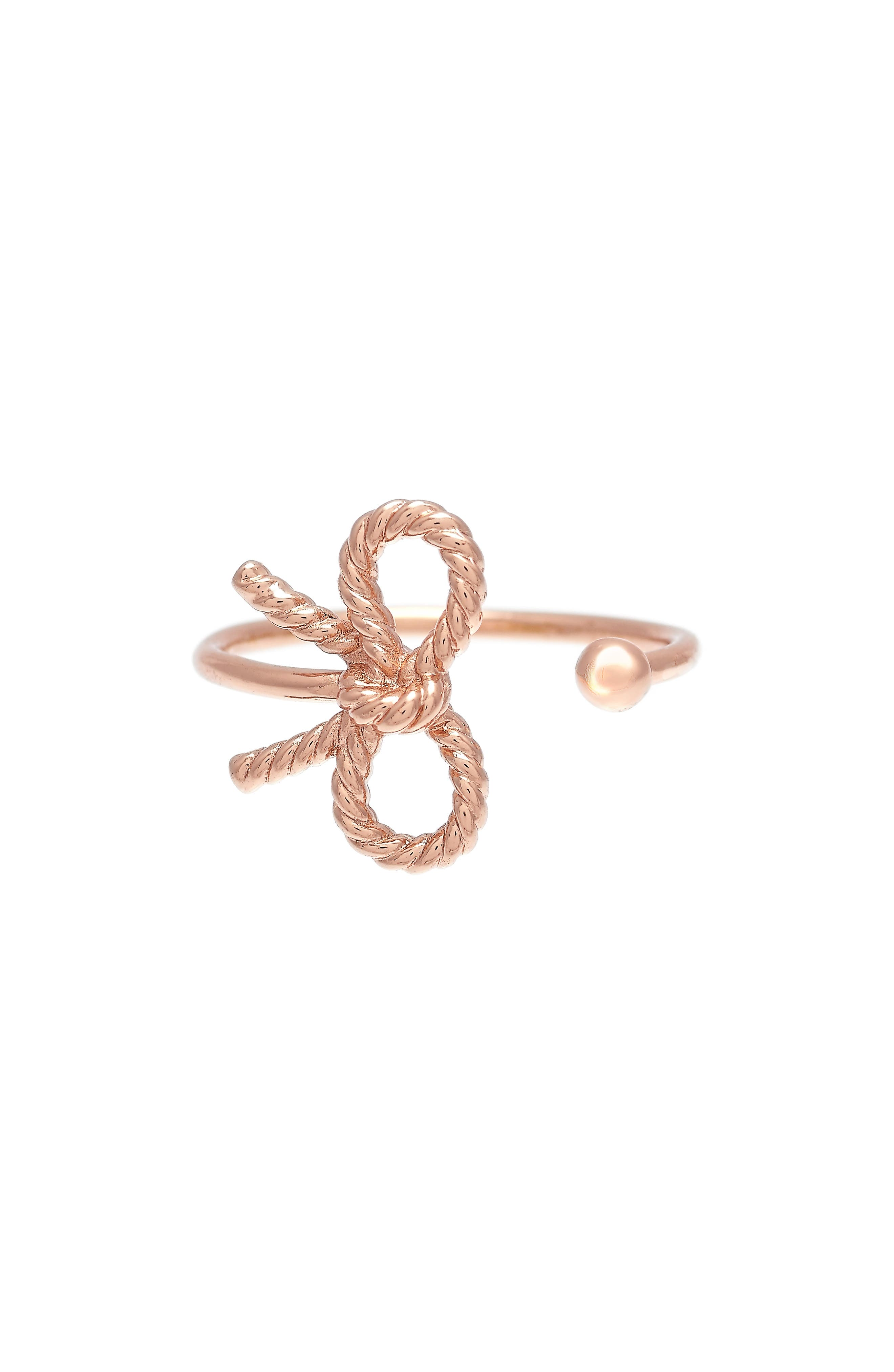 Bow Ring,                         Main,                         color, ROSE GOLD