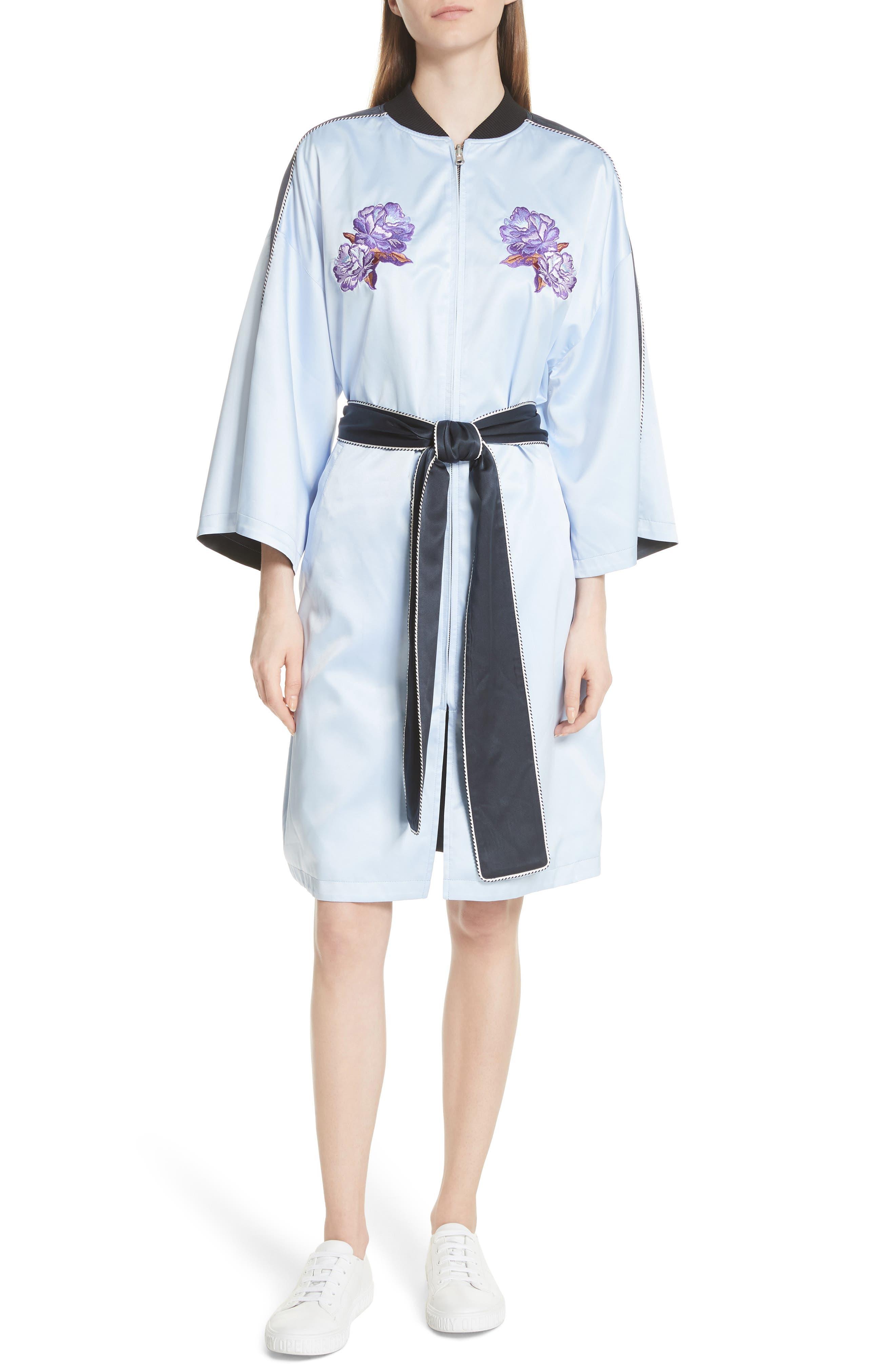 OPENING CEREMONY,                             Reversible Silk Kimono Robe,                             Alternate thumbnail 3, color,                             435