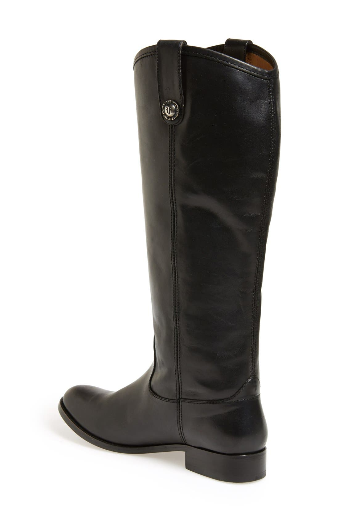 'Melissa Button' Leather Riding Boot,                             Alternate thumbnail 100, color,