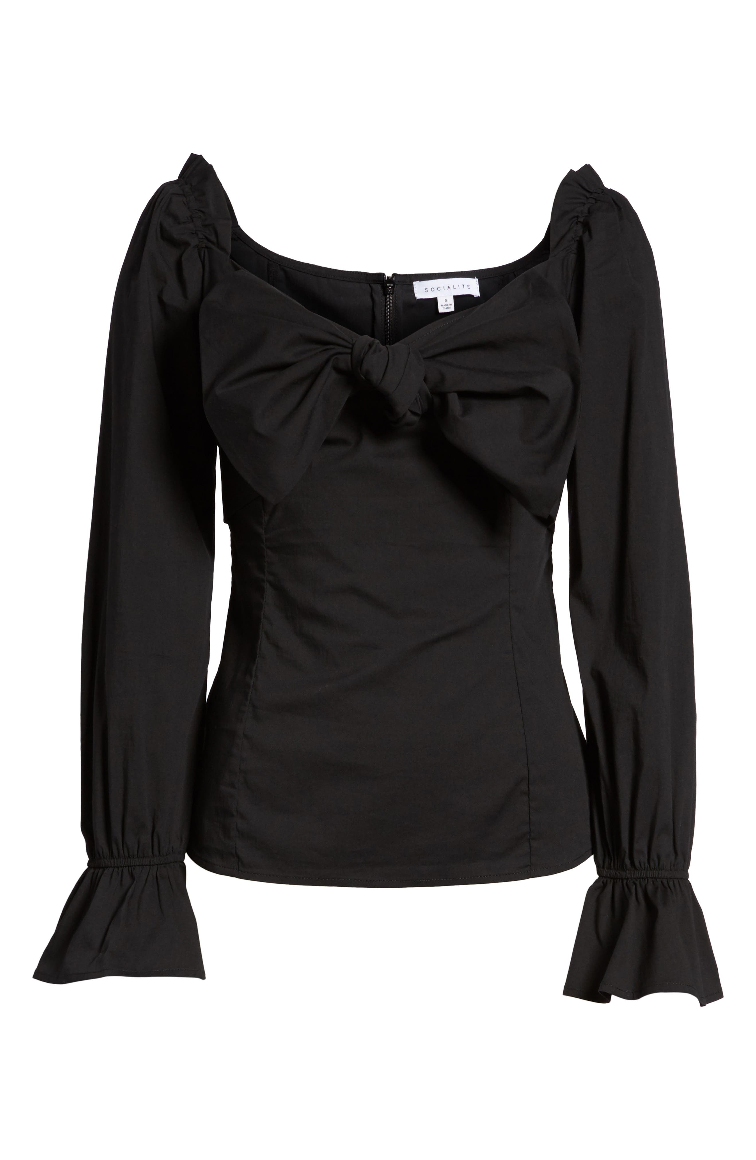 Bow Front Top,                             Alternate thumbnail 6, color,                             001