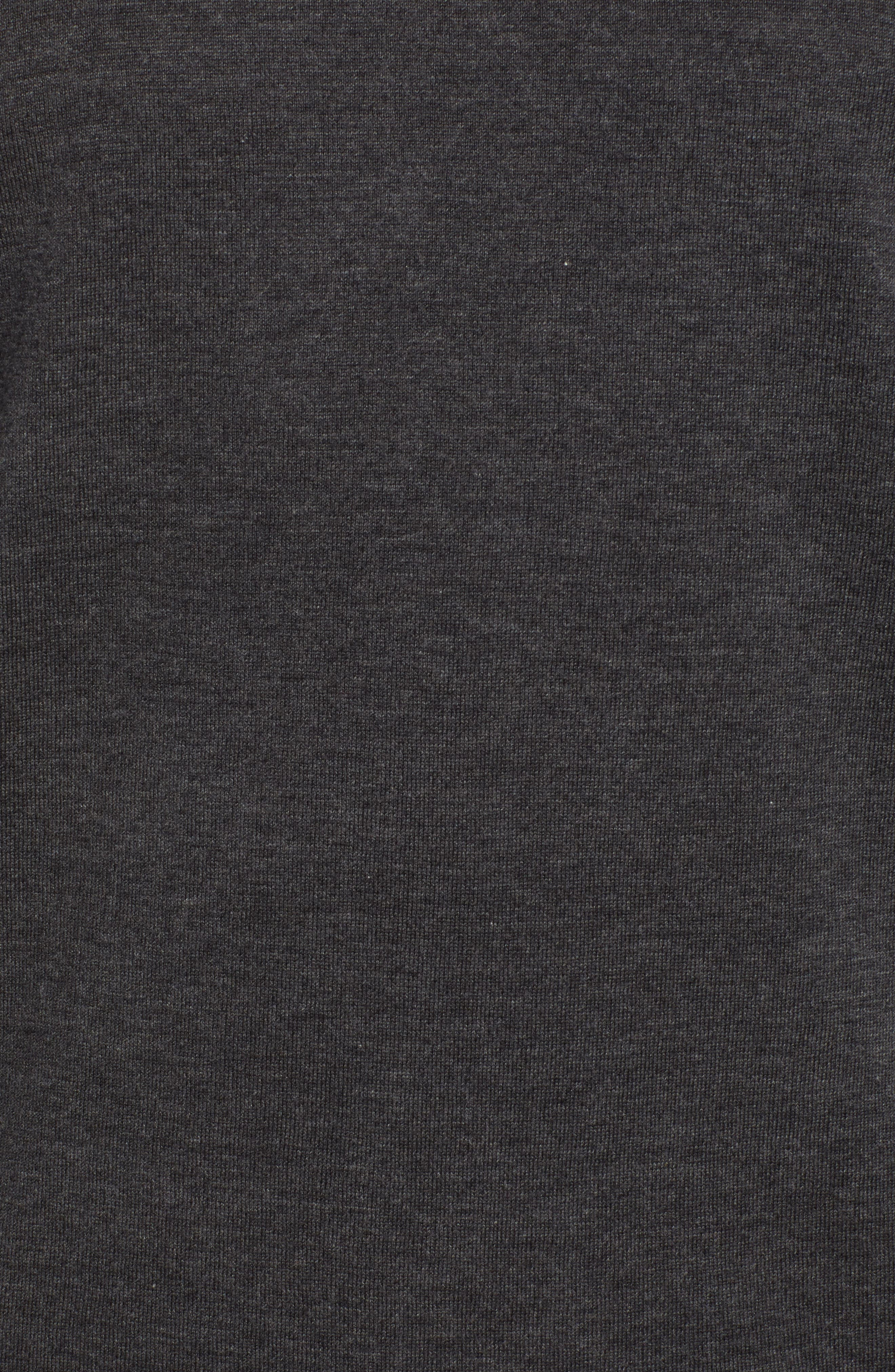 Fine Gauge Regular Fit Cotton Polo,                             Alternate thumbnail 5, color,                             HEATHER CHARCOAL