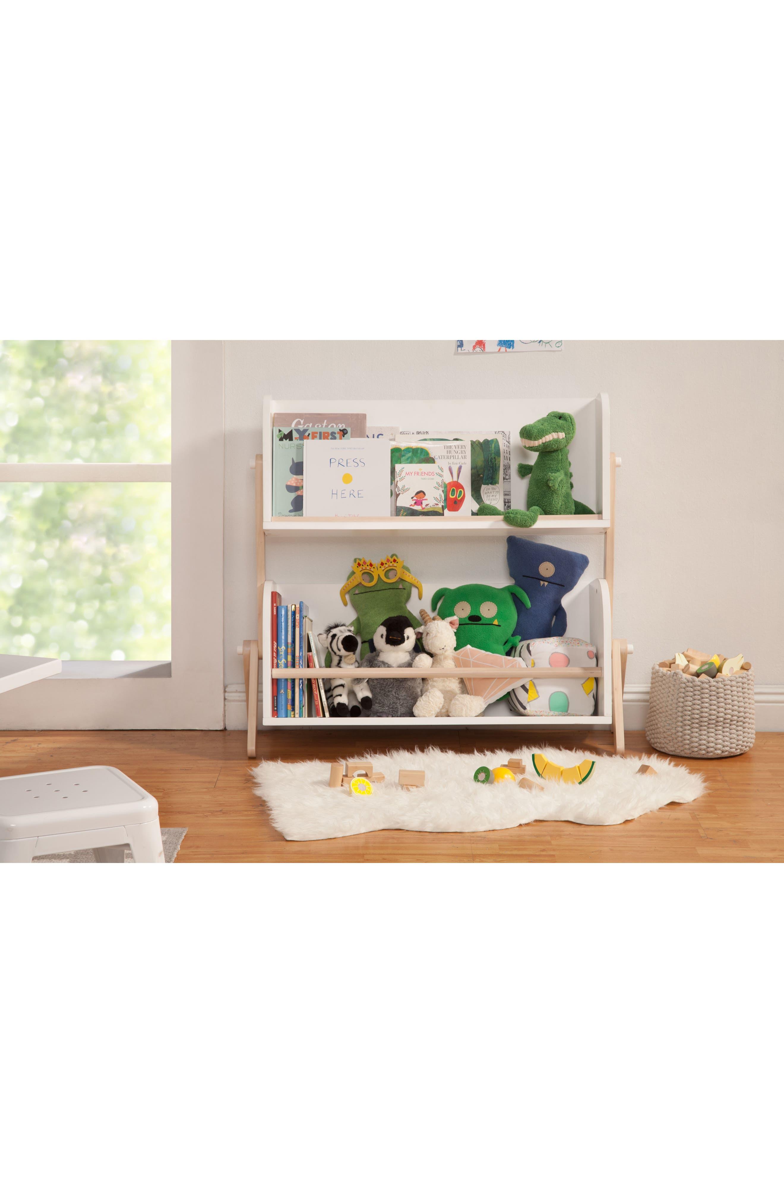 Tally Storage Bookshelf,                             Alternate thumbnail 2, color,                             WHITE/ NATURAL