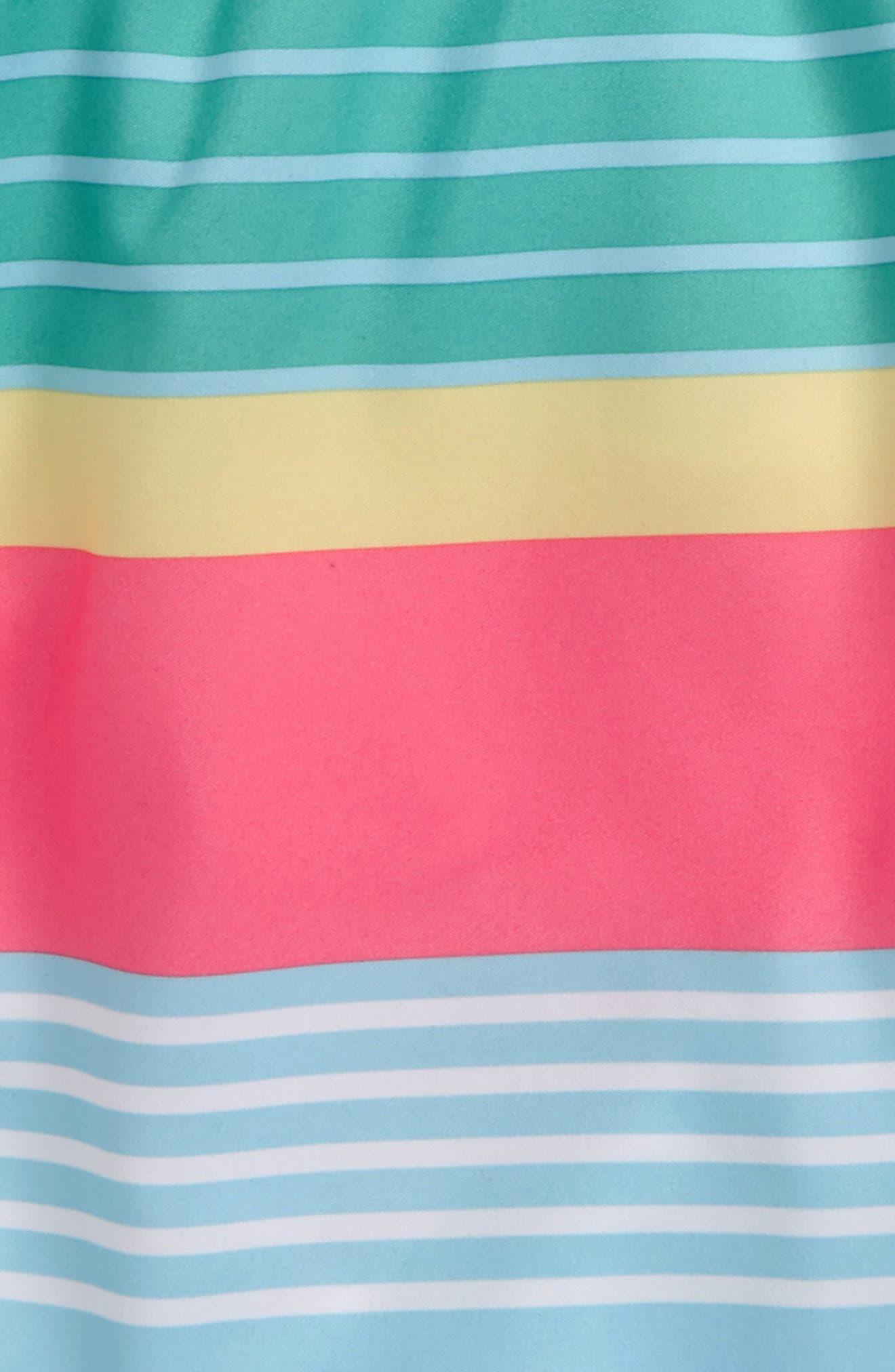 Chappy Boca Bay Stripe Swim Trunks,                             Alternate thumbnail 3, color,                             422
