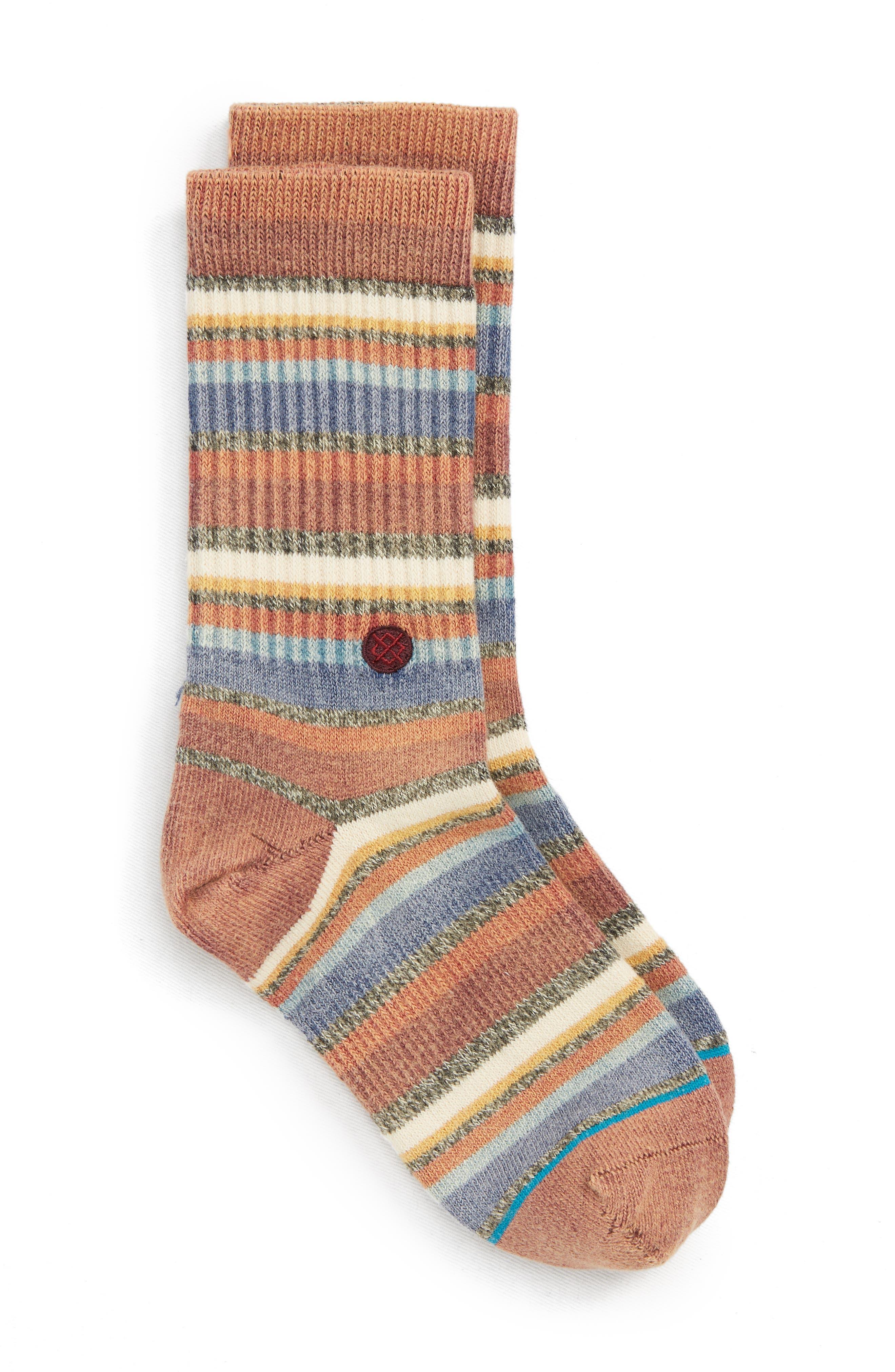 Riot Striped Socks,                             Main thumbnail 1, color,                             MAROON