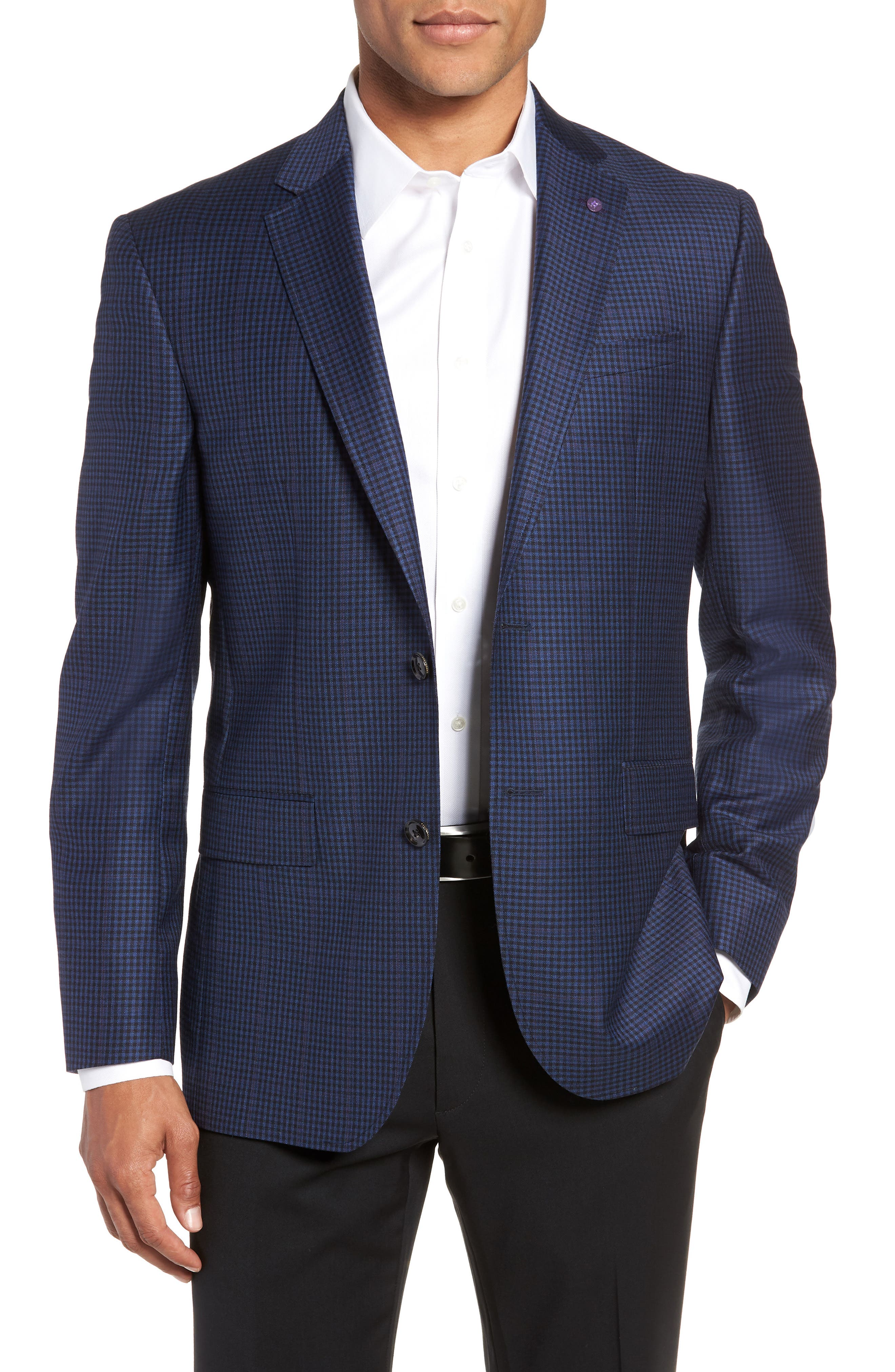 Jay 2B Trim Fit Check Wool Sport Coat,                             Main thumbnail 1, color,                             400