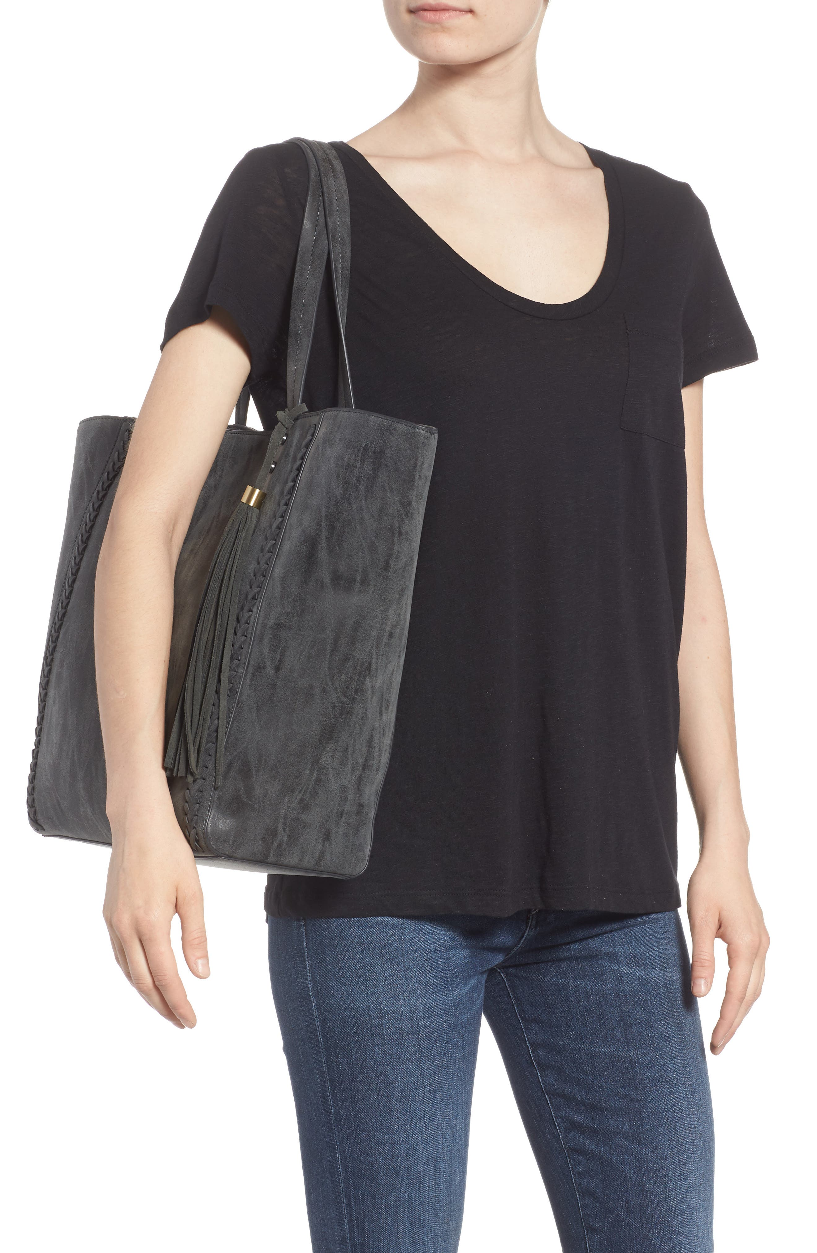 Penny Faux Leather Tote,                             Alternate thumbnail 2, color,                             001
