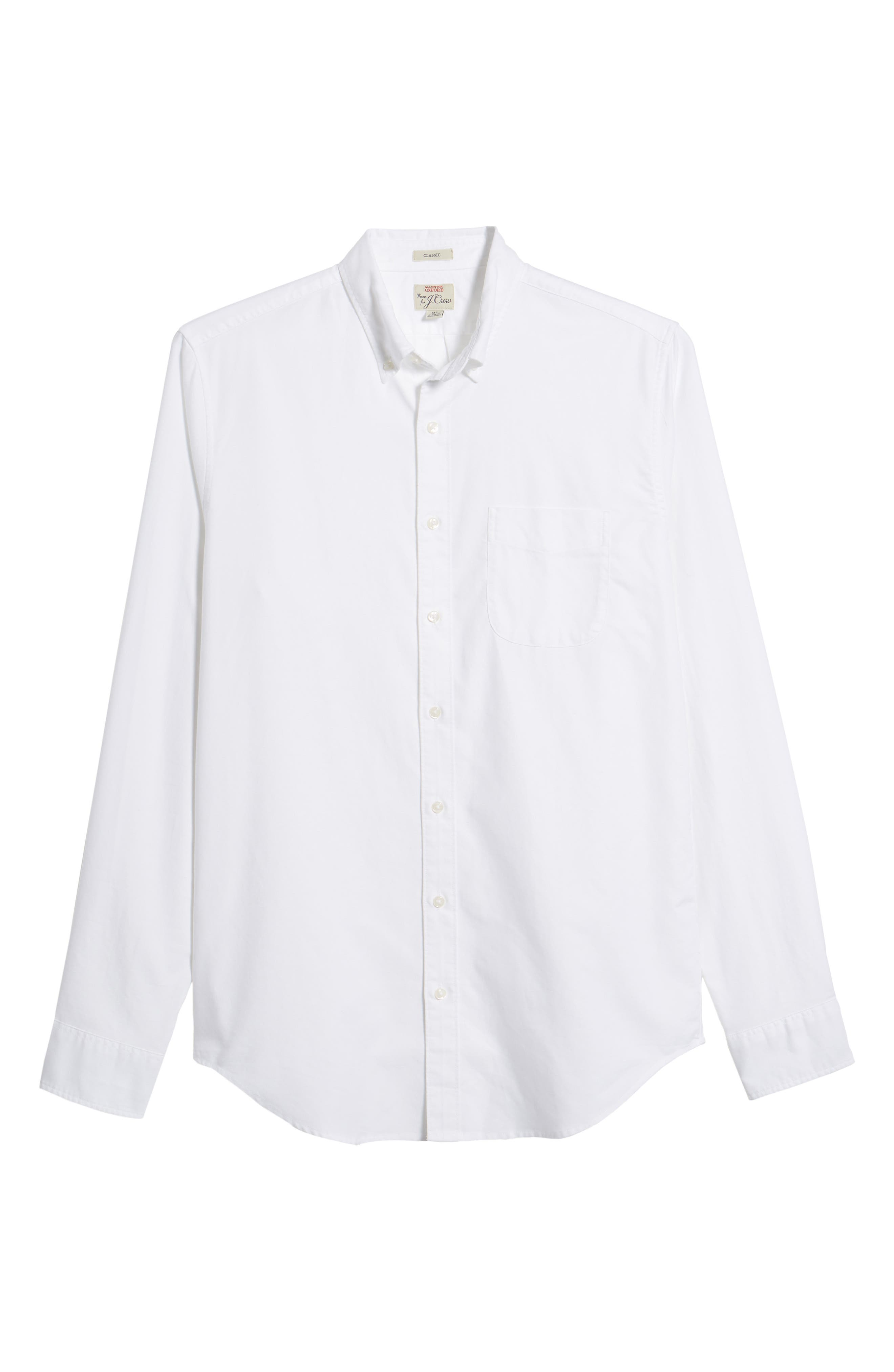 Classic Fit Stretch Pima Cotton Oxford Shirt,                             Alternate thumbnail 6, color,                             104