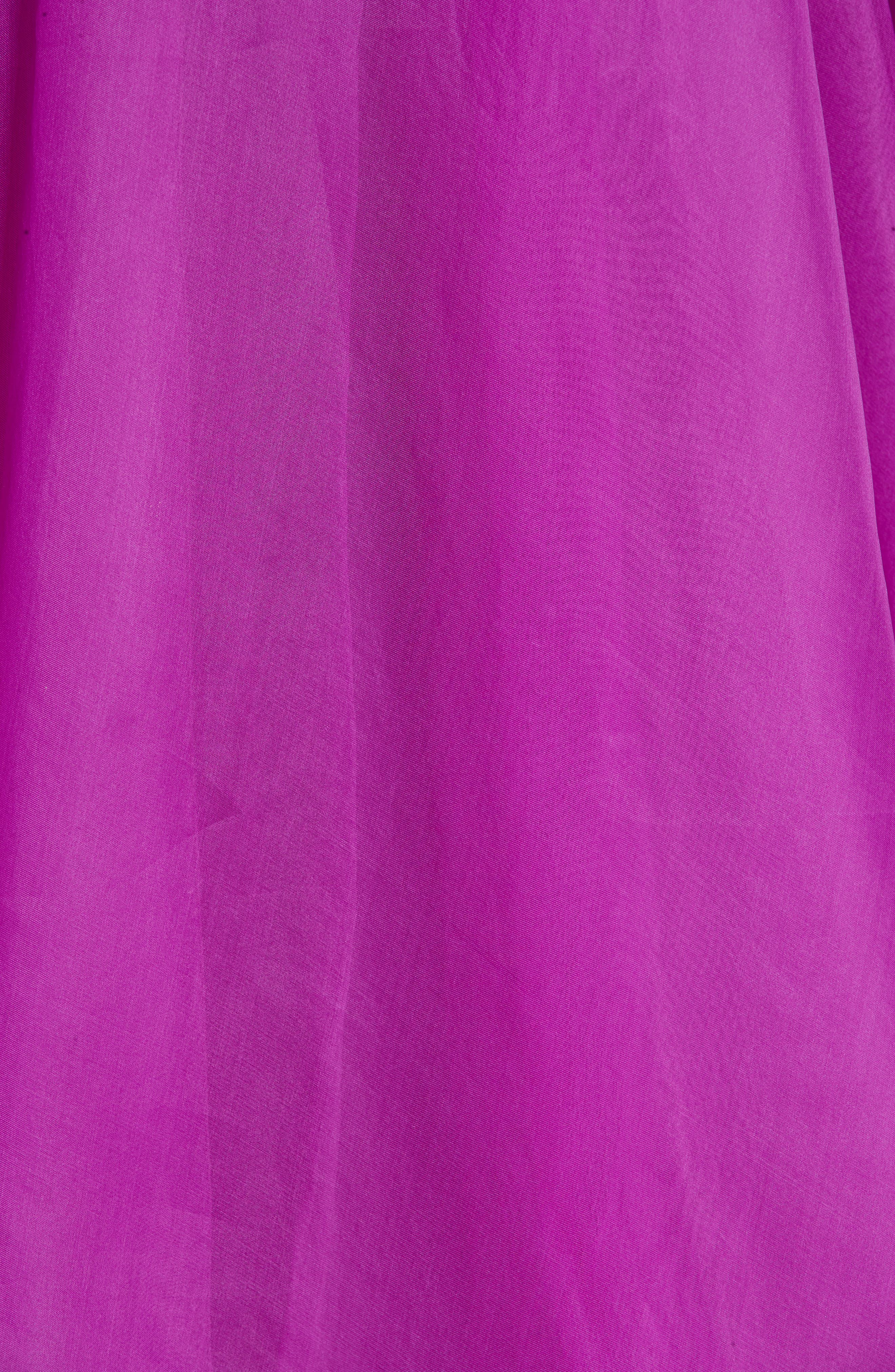 Ruffle Silk Organza Evening Dress,                             Alternate thumbnail 5, color,                             ORCHID