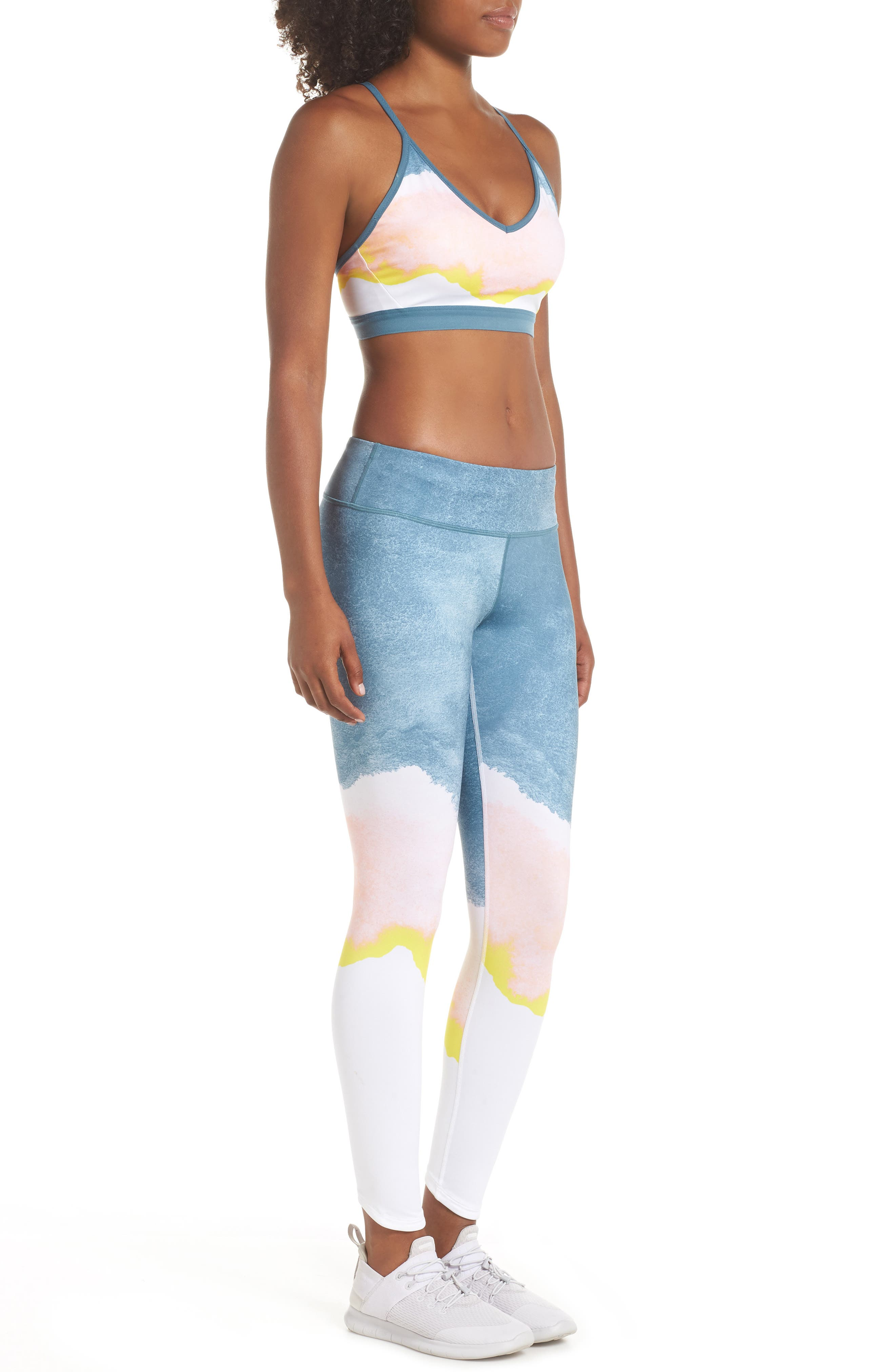 Indy Artist Sports Bra,                             Alternate thumbnail 11, color,                             WHITE/ CELESTIAL TEAL/ WHITE