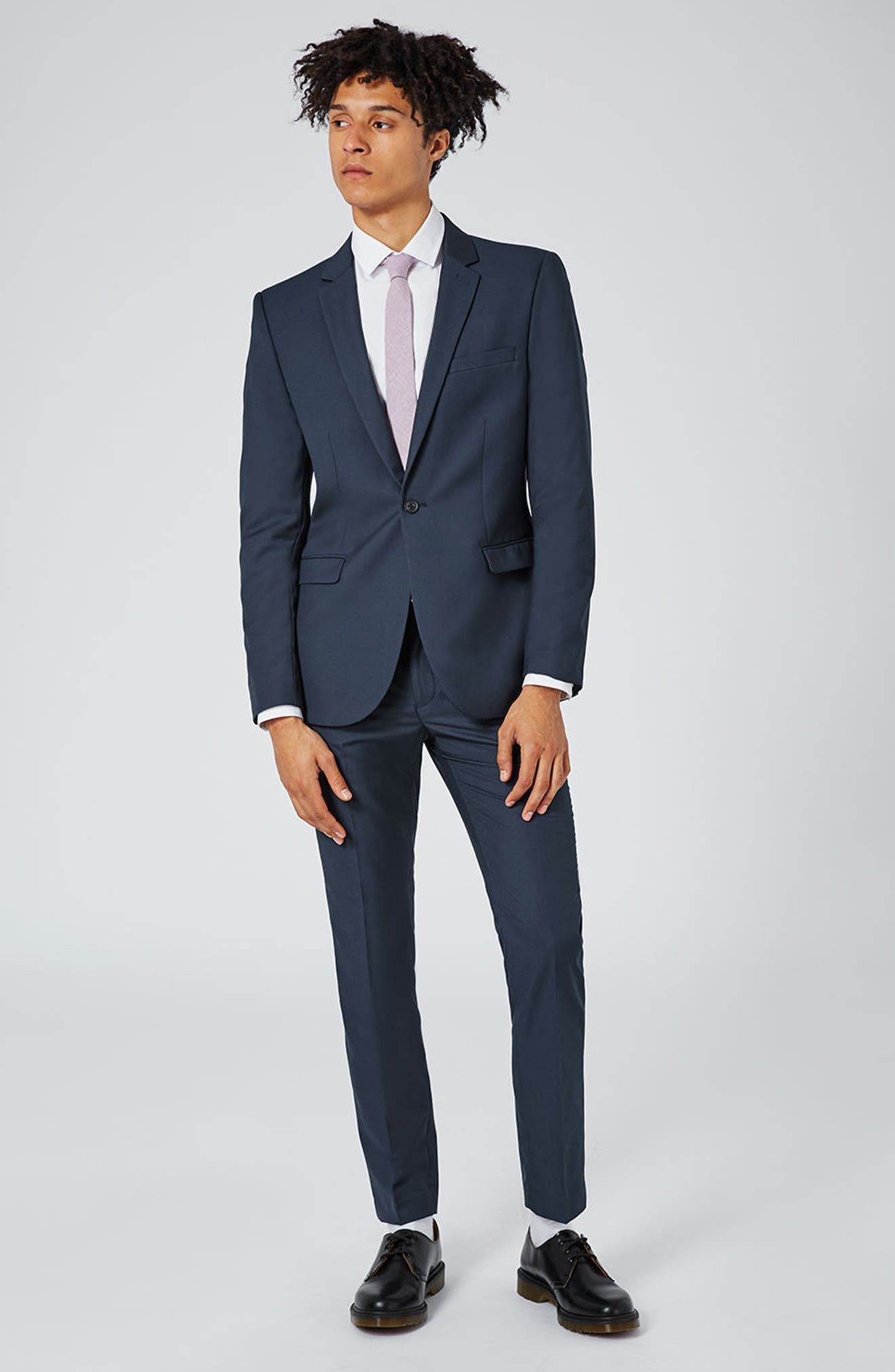 Skinny Fit Suit Trousers,                             Alternate thumbnail 7, color,                             420