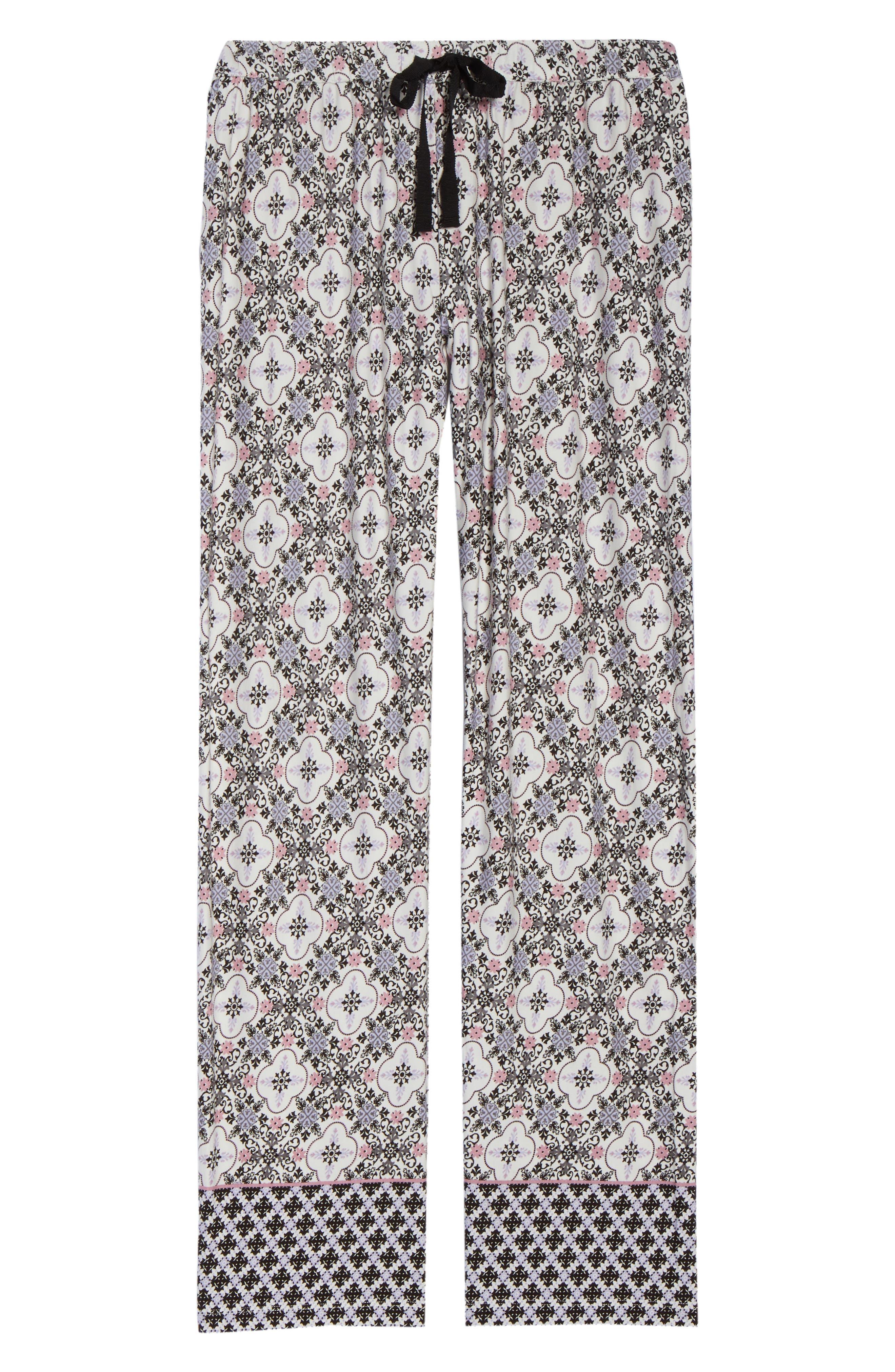 Ankle Pajama Pants,                             Alternate thumbnail 6, color,                             901