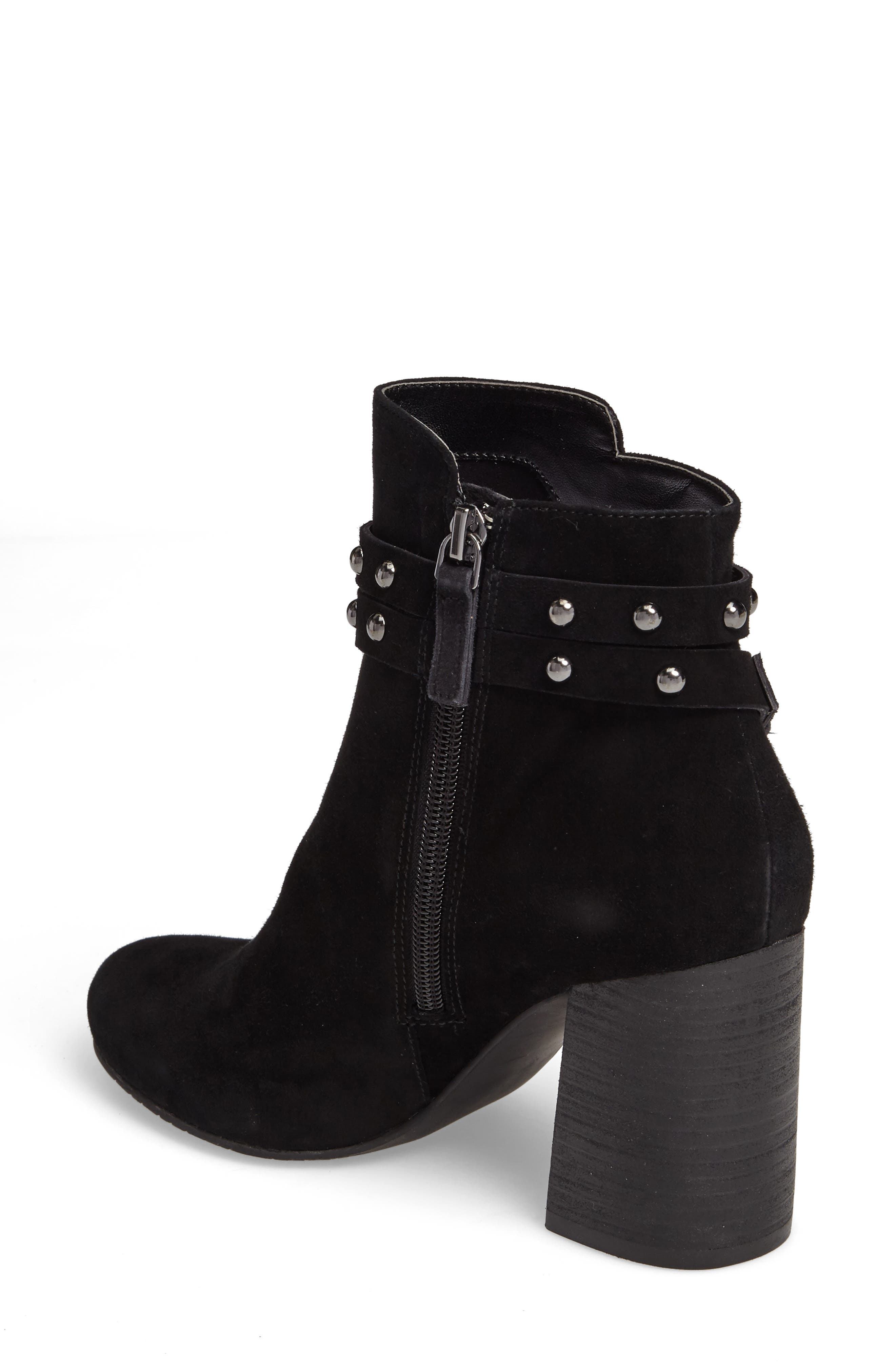 Kolo Flared-Heel Studded Bootie,                             Alternate thumbnail 2, color,                             001