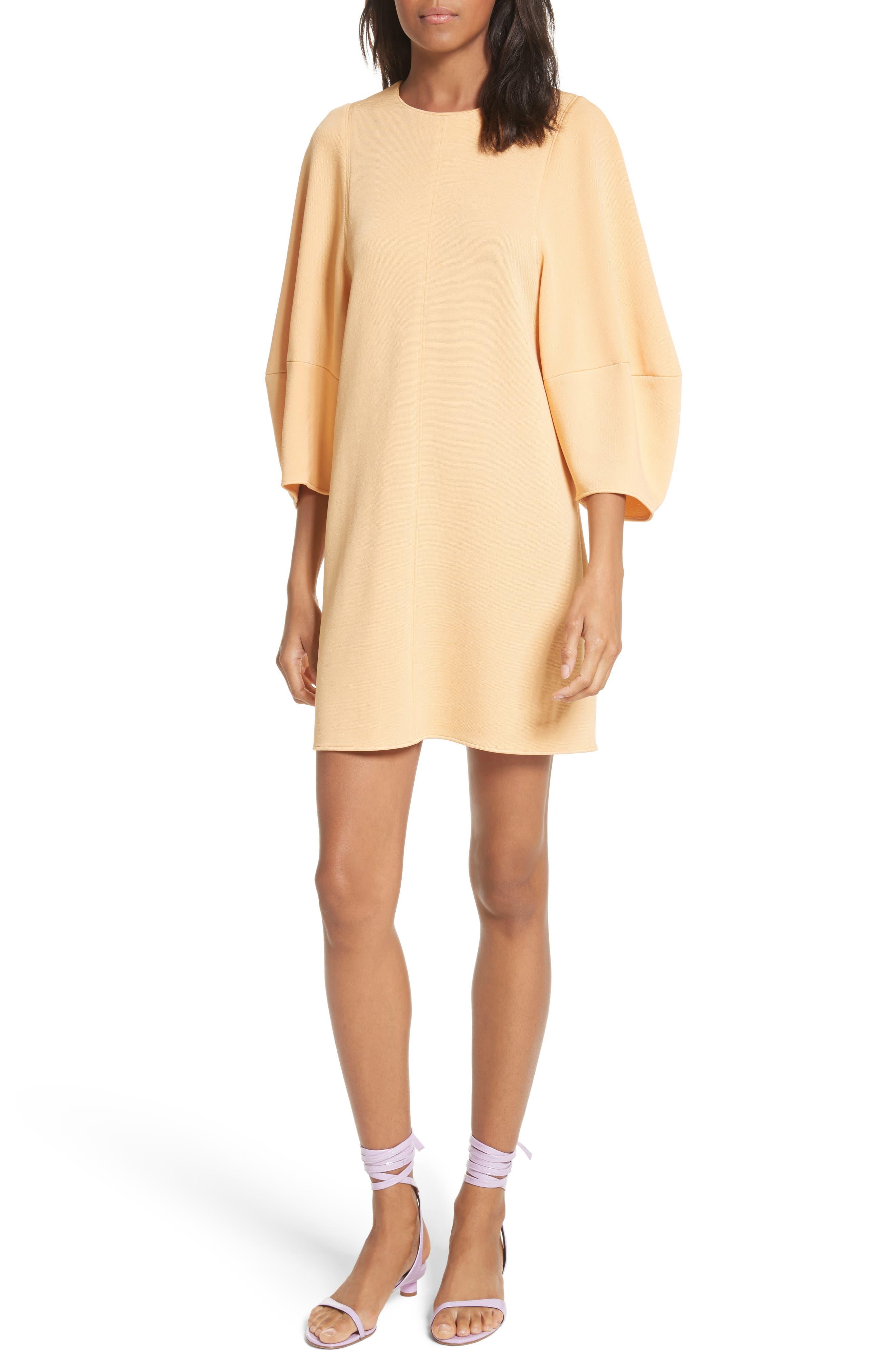 Balloon Sleeve Mini Dress,                             Main thumbnail 1, color,