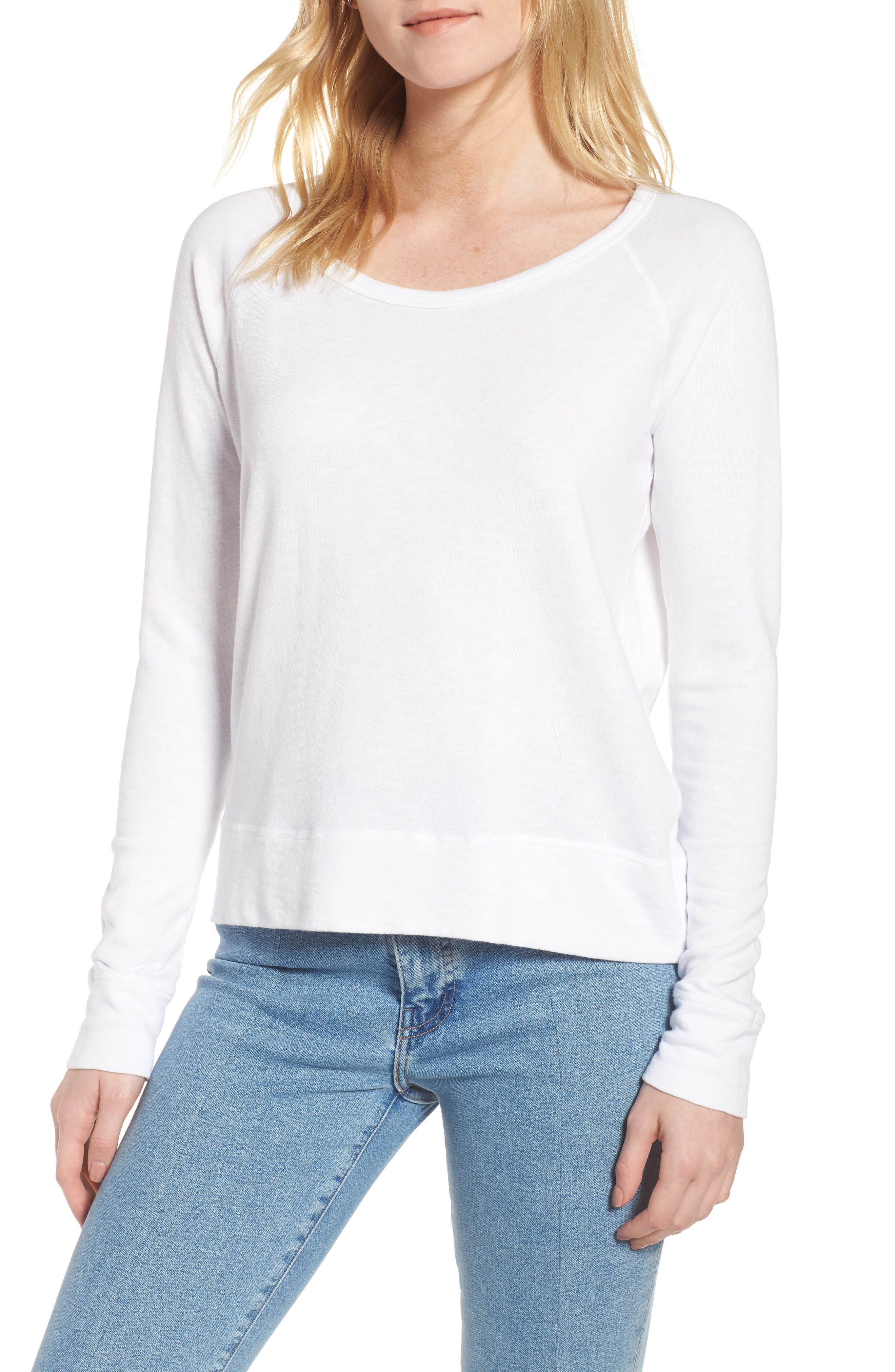 JAMES PERSE Classic Raglan Sweatshirt, Main, color, 100