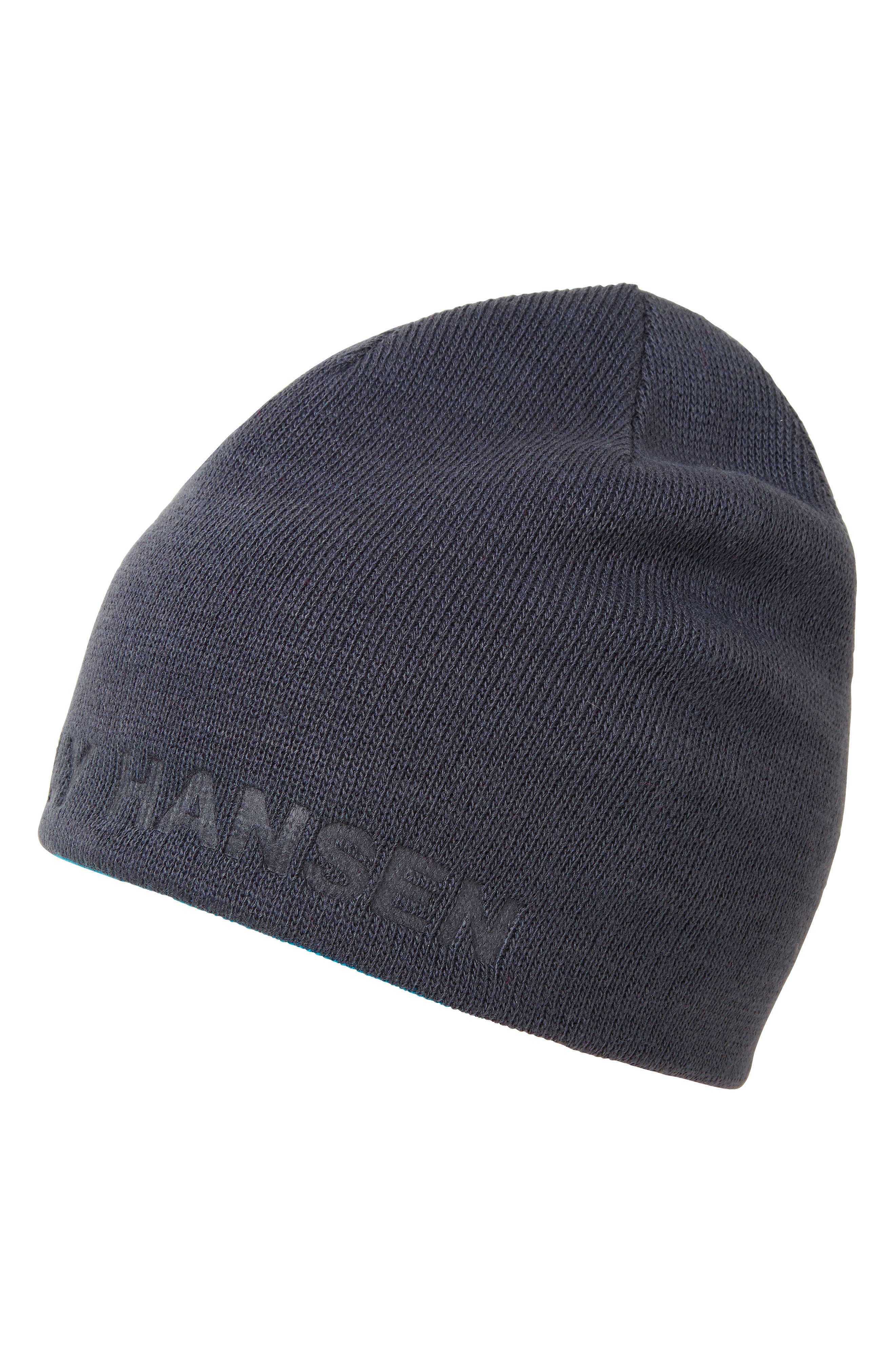 Outline Reversible Beanie - Grey in Graphite Blue/ Olympian Blue