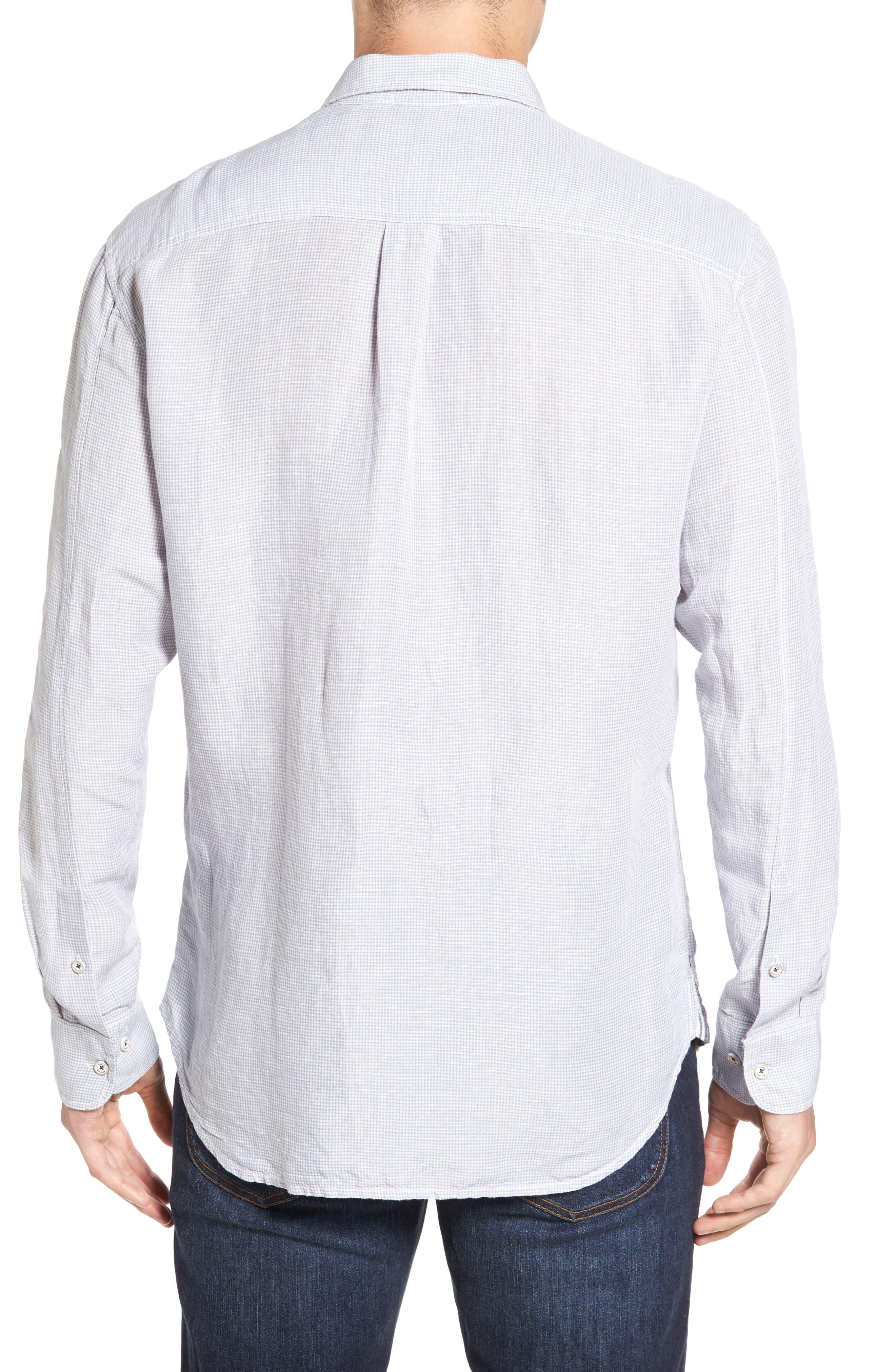 Sand Linen Island Modern Fit Sport Shirt,                             Alternate thumbnail 2, color,                             050