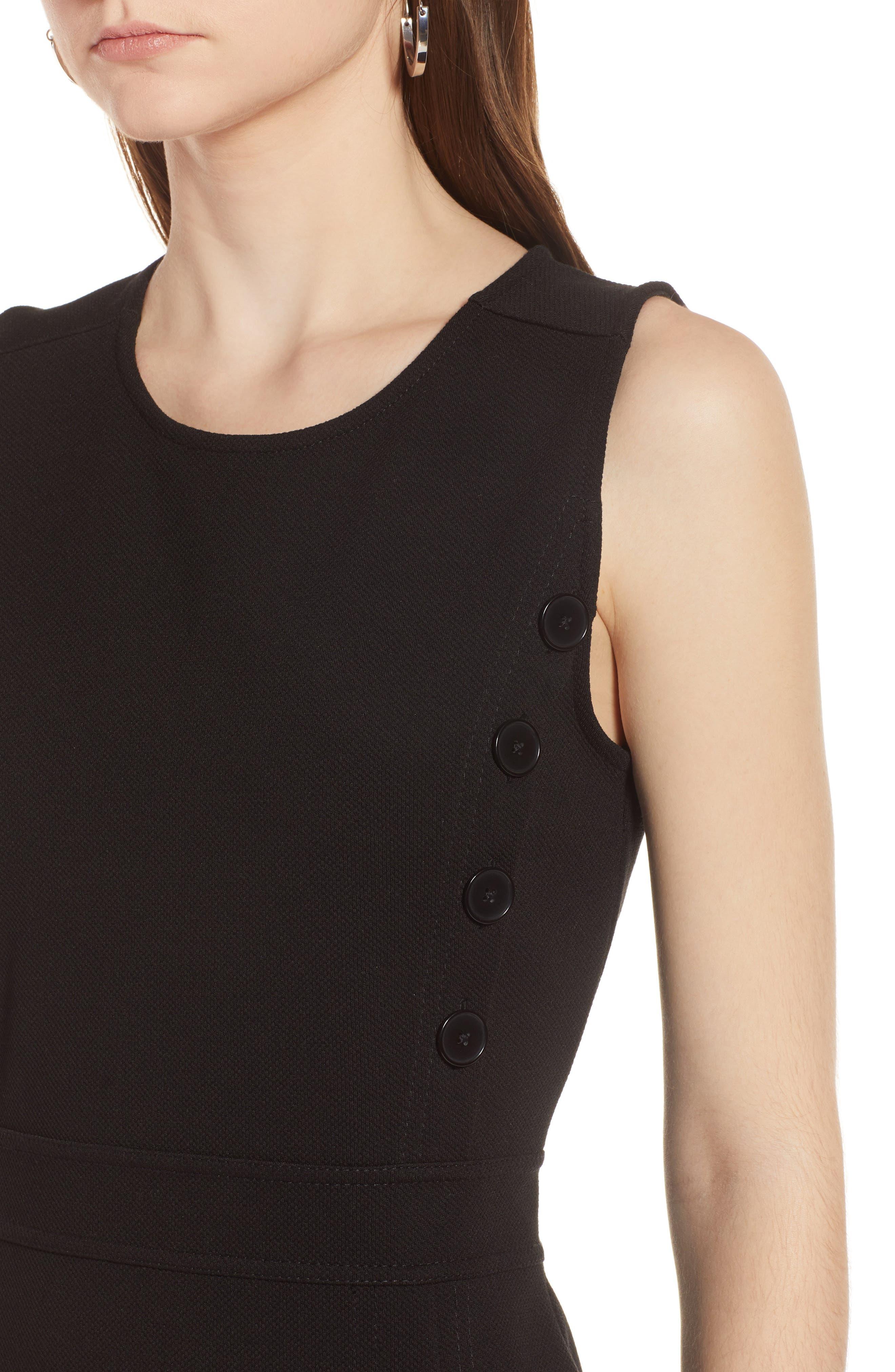 Knit Sheath Dress,                             Alternate thumbnail 4, color,                             001
