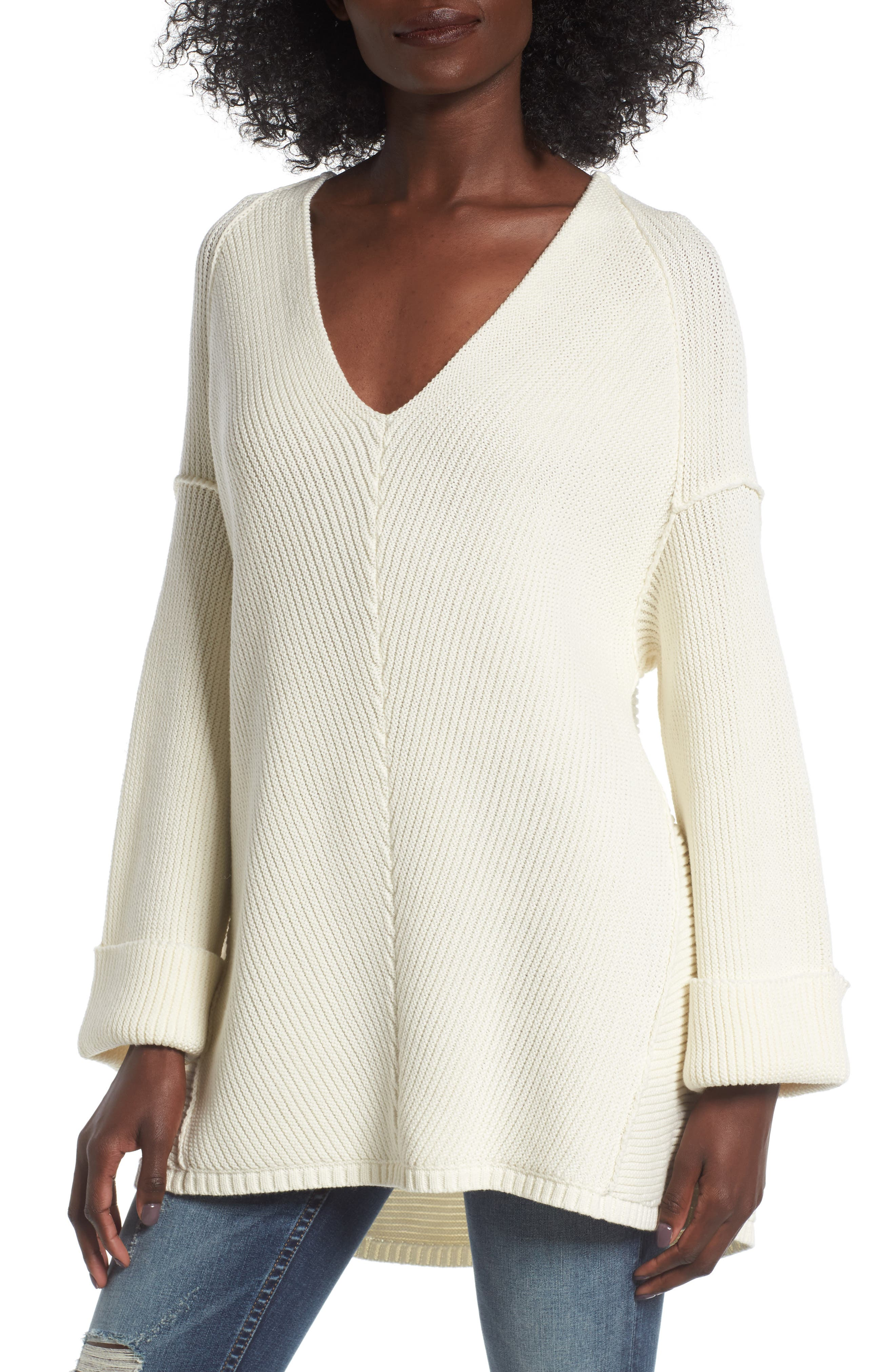 Cuff Sleeve Pullover,                             Main thumbnail 1, color,                             900