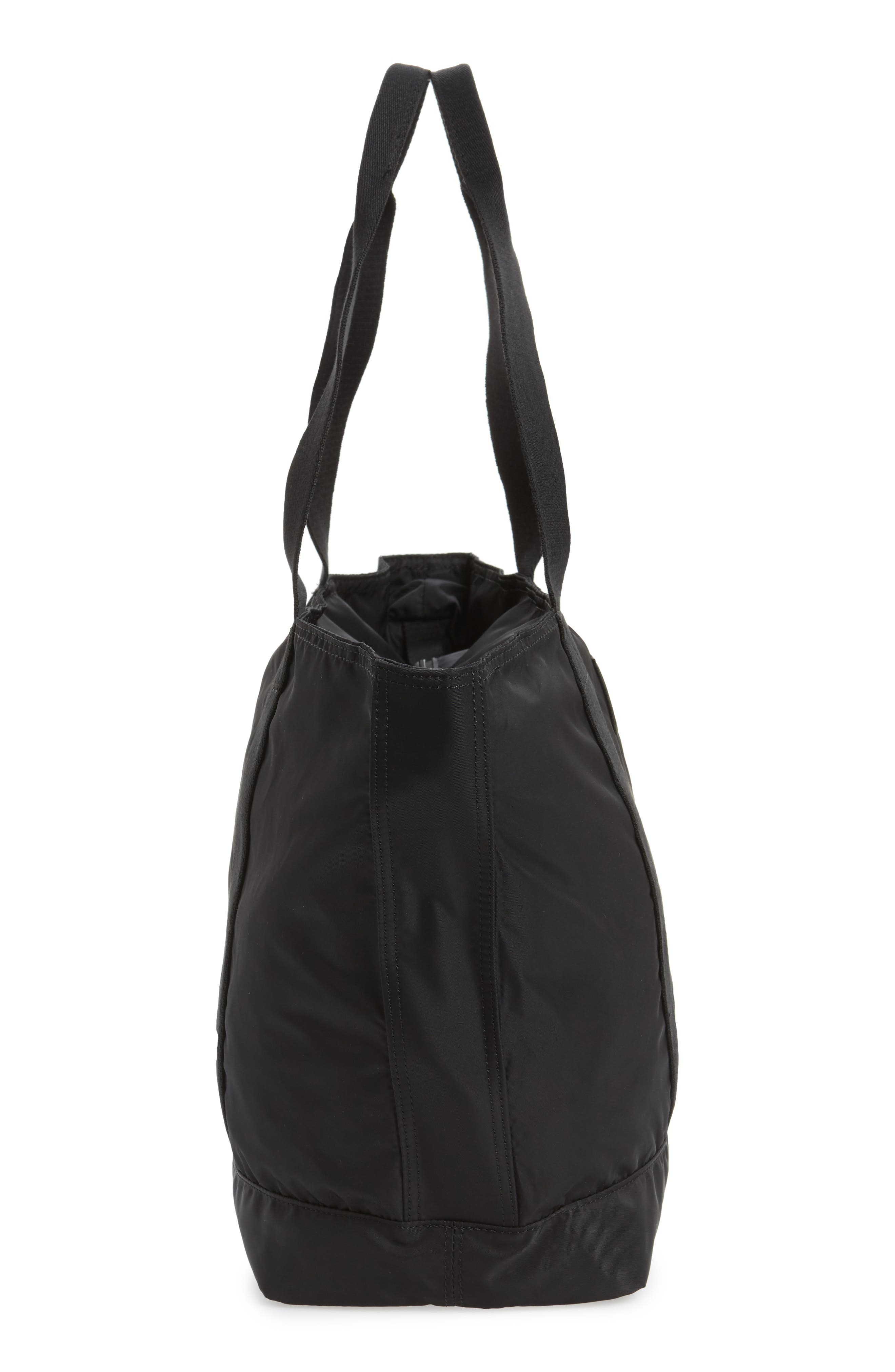 The Heights Nylon Tote,                             Alternate thumbnail 5, color,                             BLACK