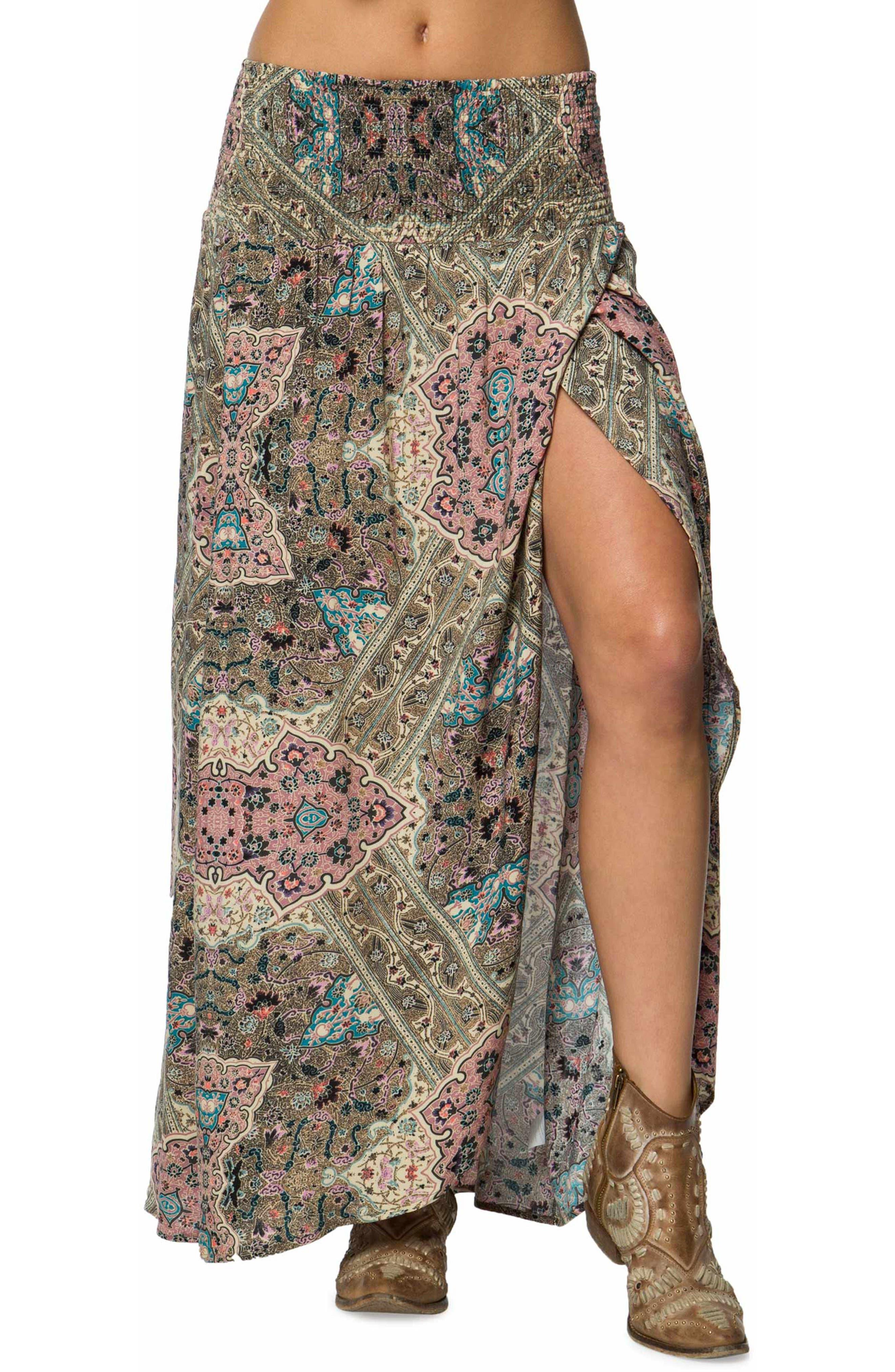 Tamarindo Woven Maxi Skirt,                             Main thumbnail 1, color,