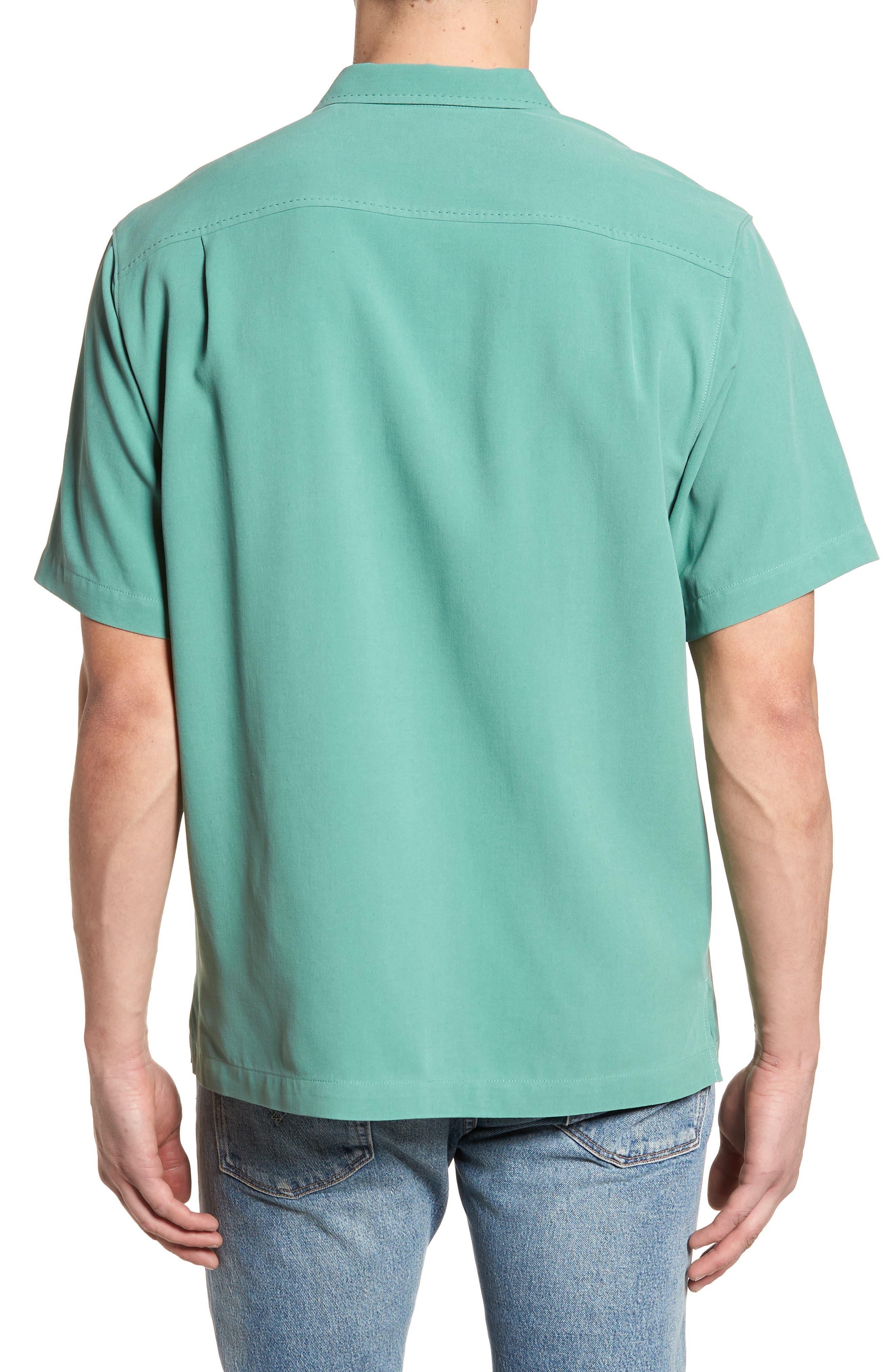 'Catalina Twill' Original Fit Silk Camp Shirt,                             Alternate thumbnail 2, color,                             306