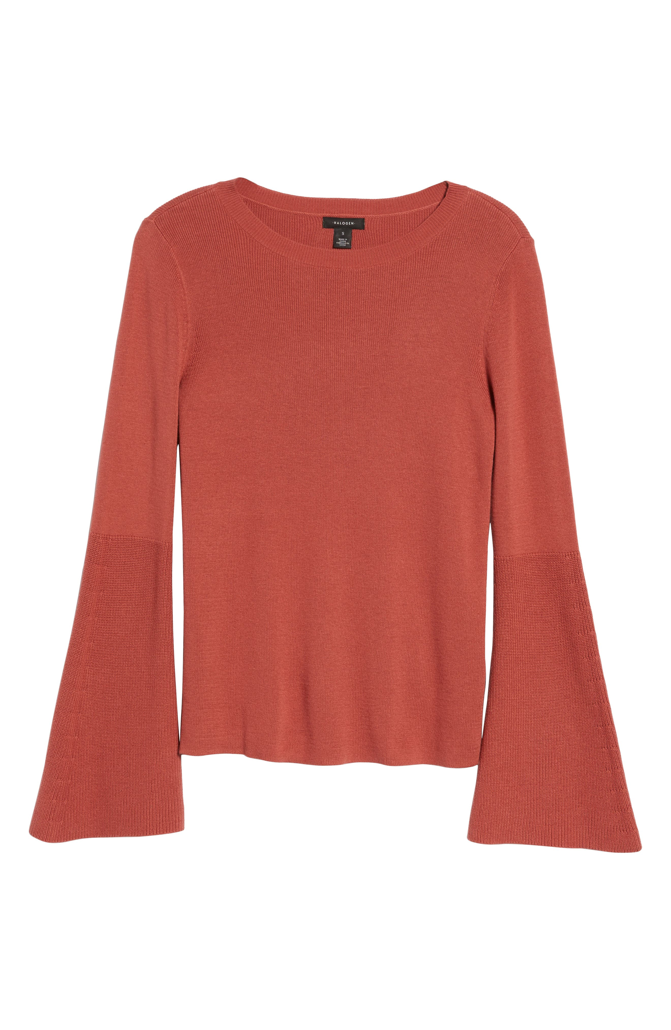 Bell Sleeve Rib Sweater,                             Alternate thumbnail 24, color,