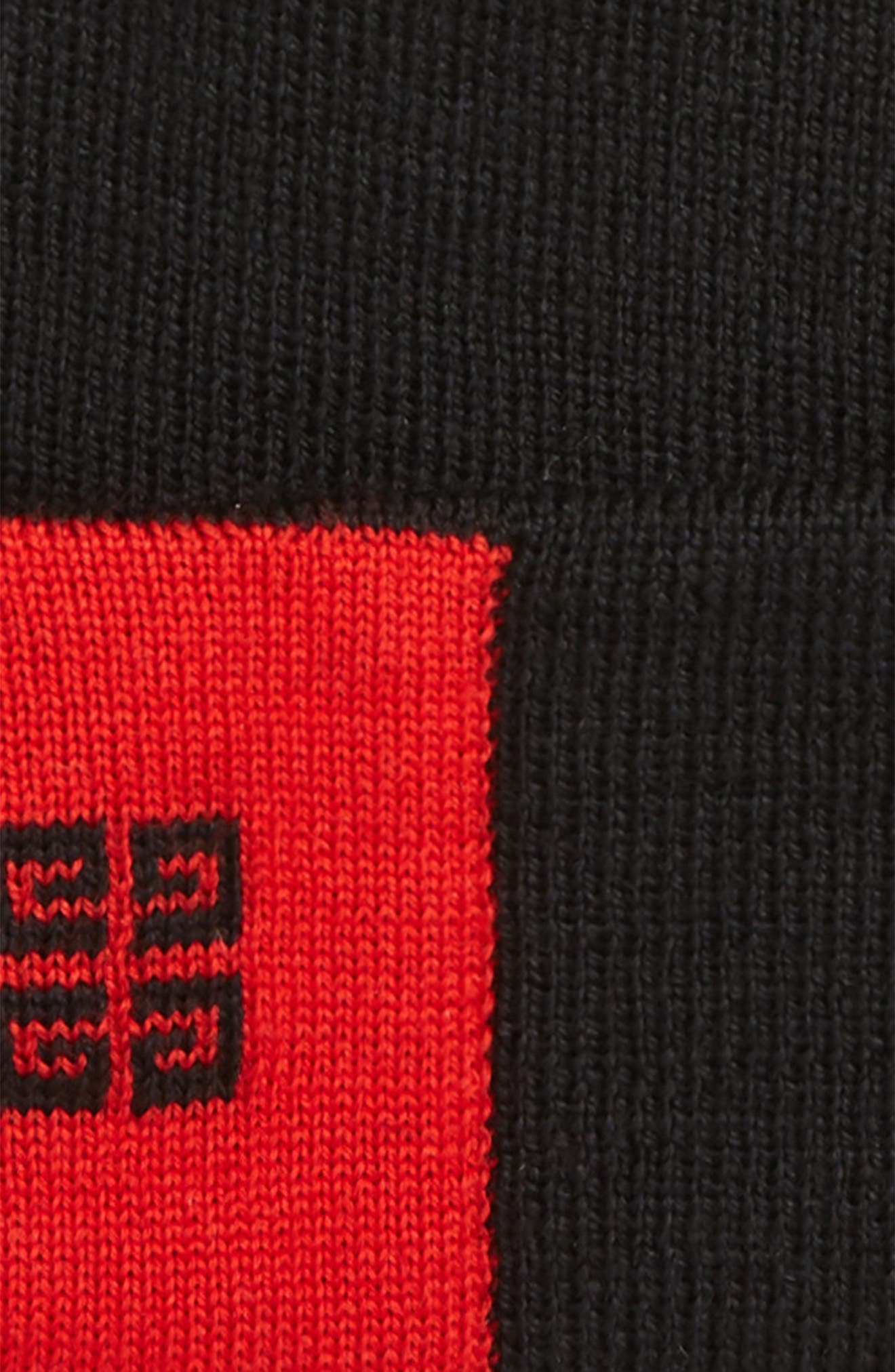 4G Wool Beanie,                             Alternate thumbnail 2, color,                             BLACK/ RED