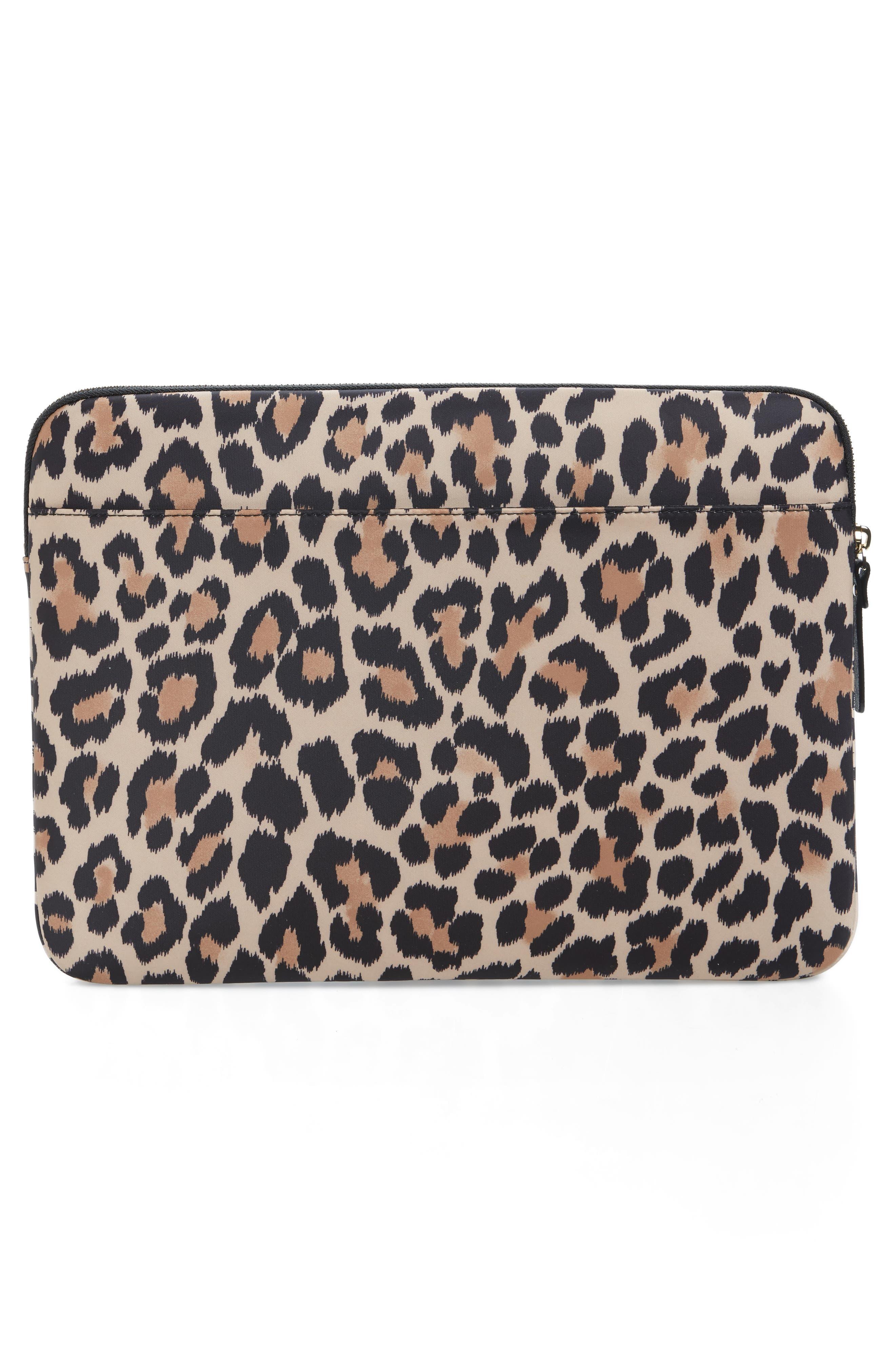 leopard 13-Inch laptop sleeve,                             Alternate thumbnail 4, color,                             200
