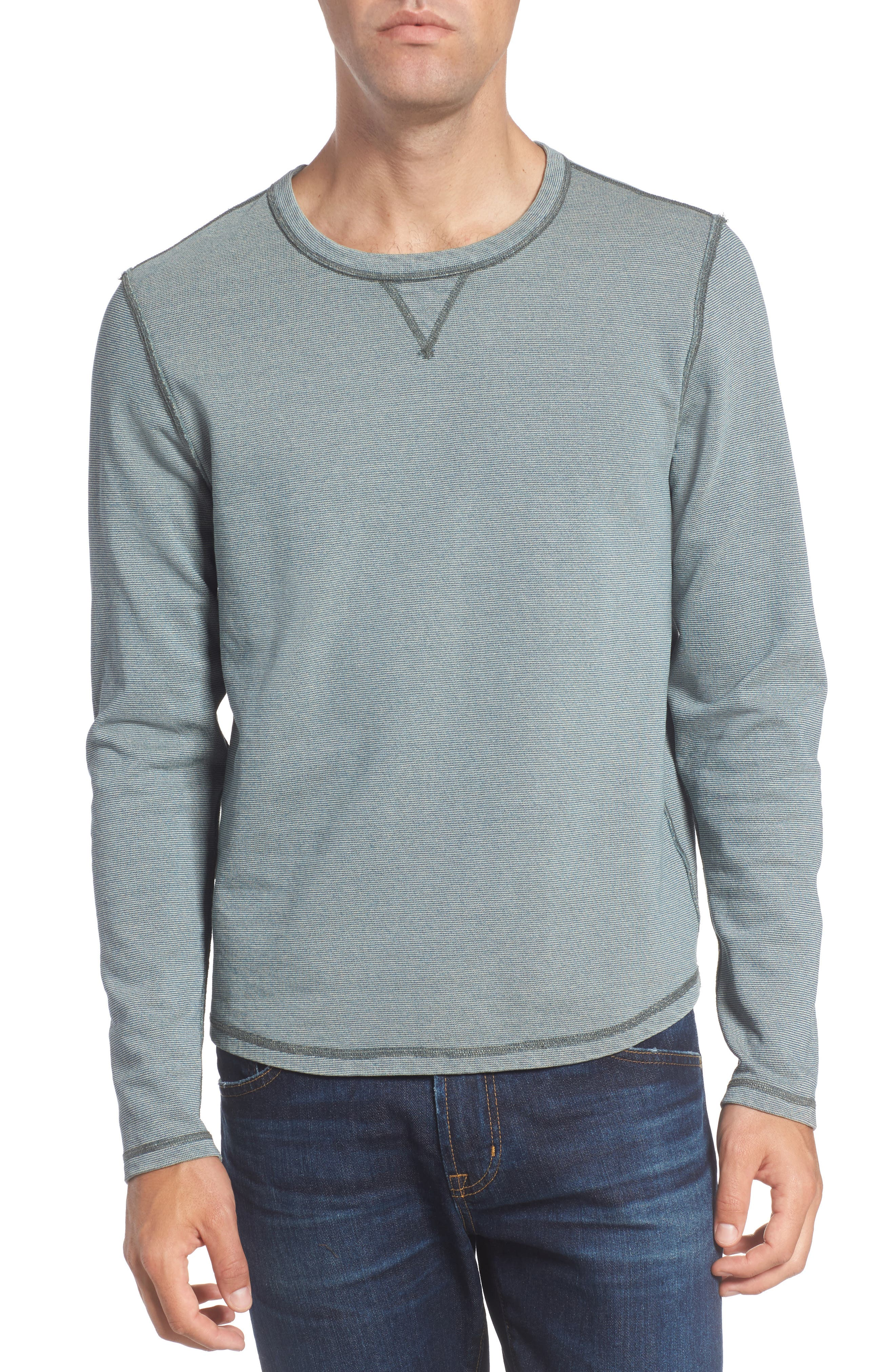 Strickland Reversible Crewneck Sweatshirt,                             Alternate thumbnail 4, color,                             424