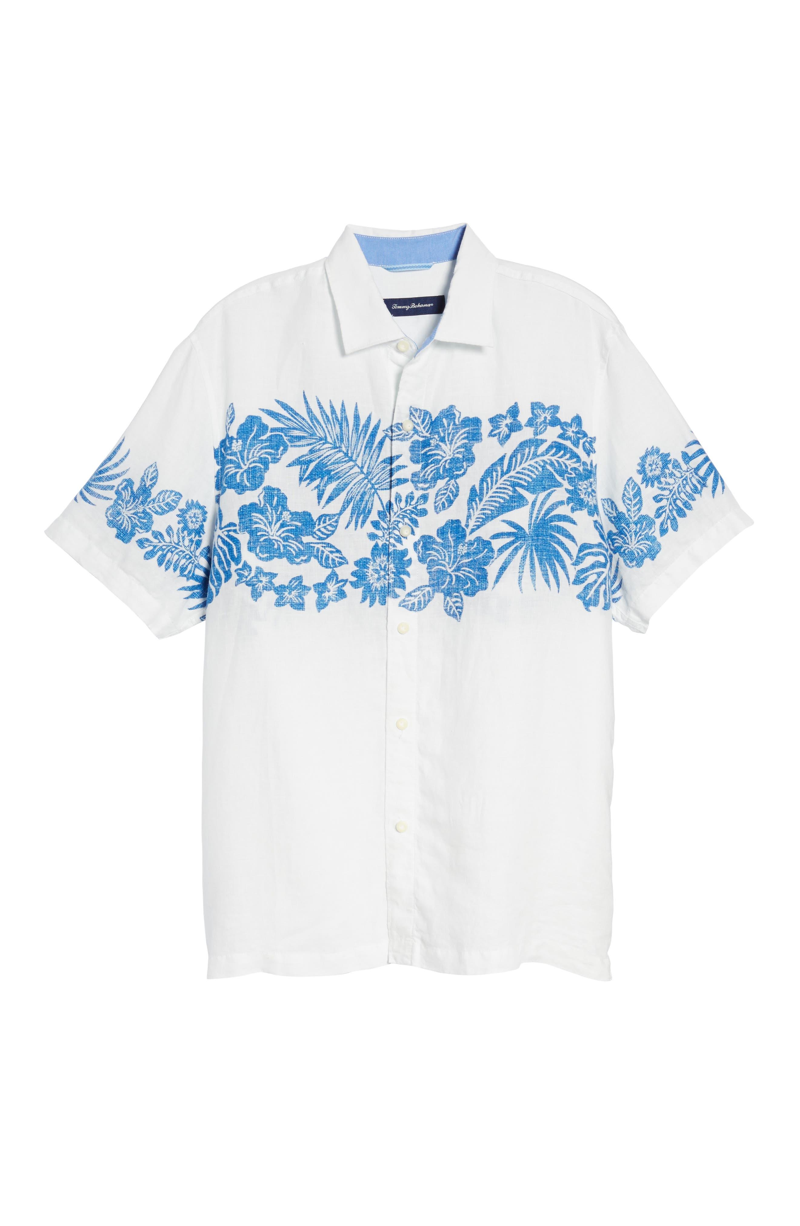 Waimea Wonder Linen Camp Shirt,                             Alternate thumbnail 6, color,                             101