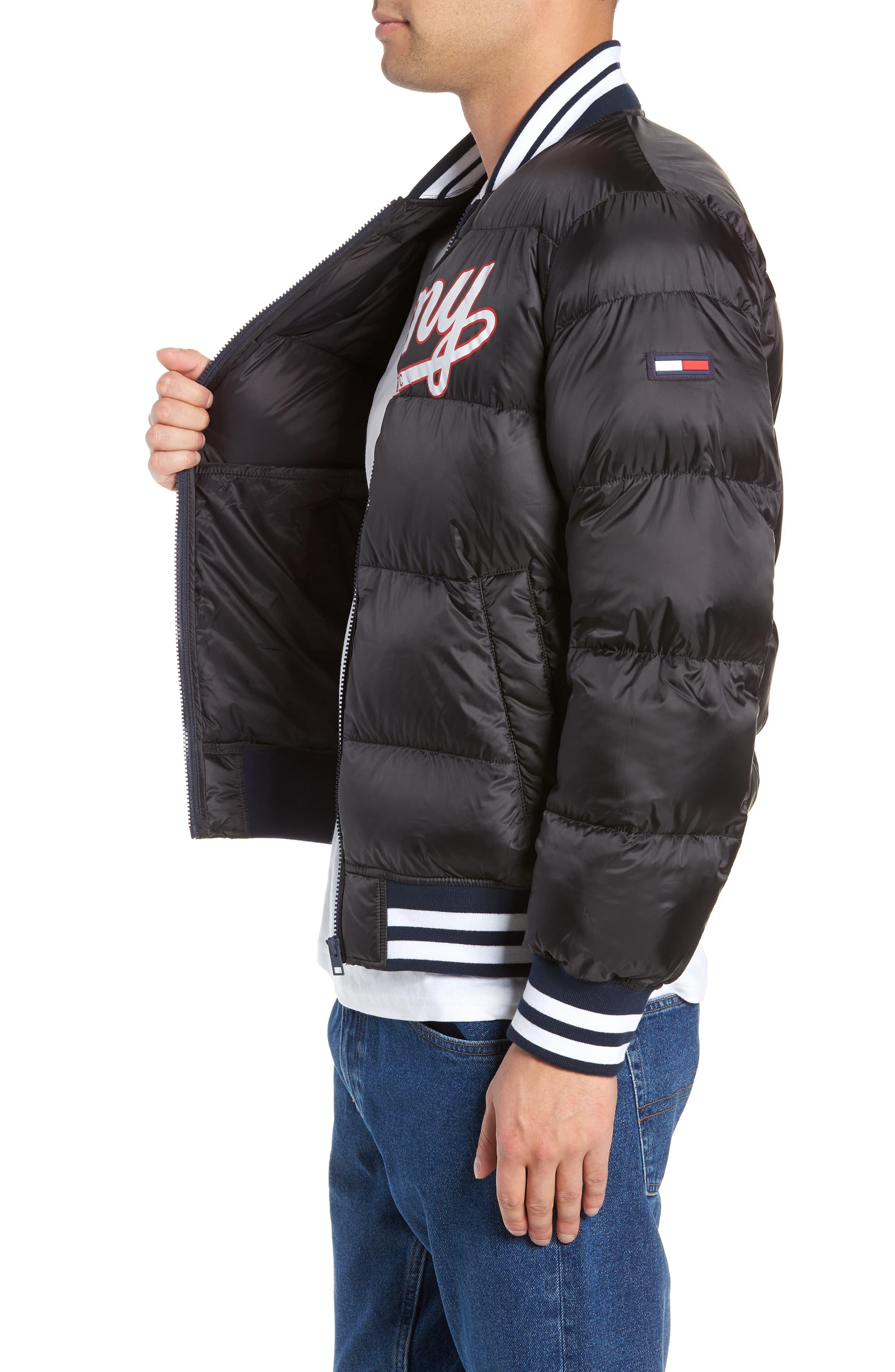 Varsity Jacket,                             Alternate thumbnail 3, color,                             TOMMY BLACK