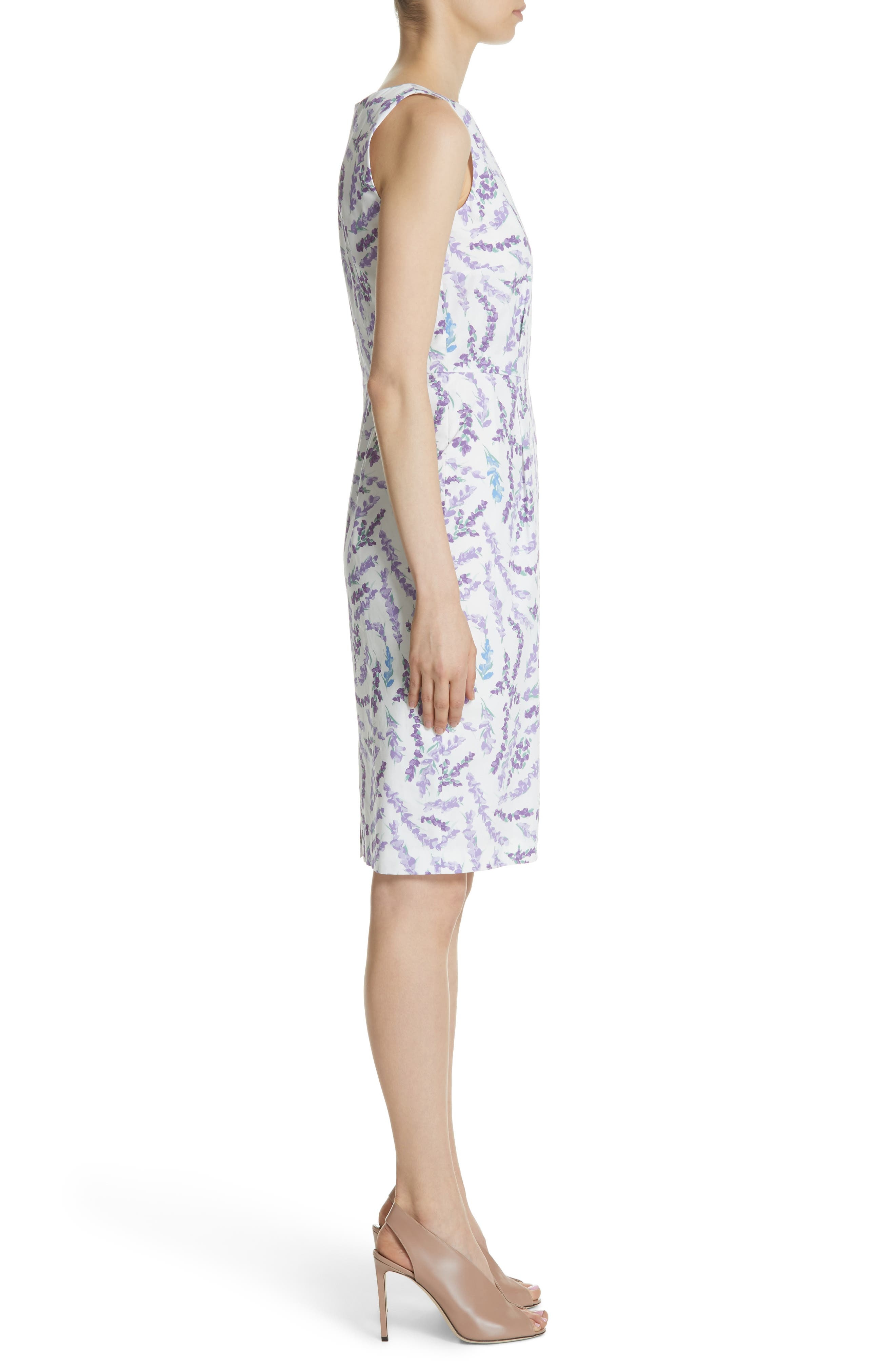 Melfi Print Cotton Sheath Dress,                             Alternate thumbnail 3, color,                             531