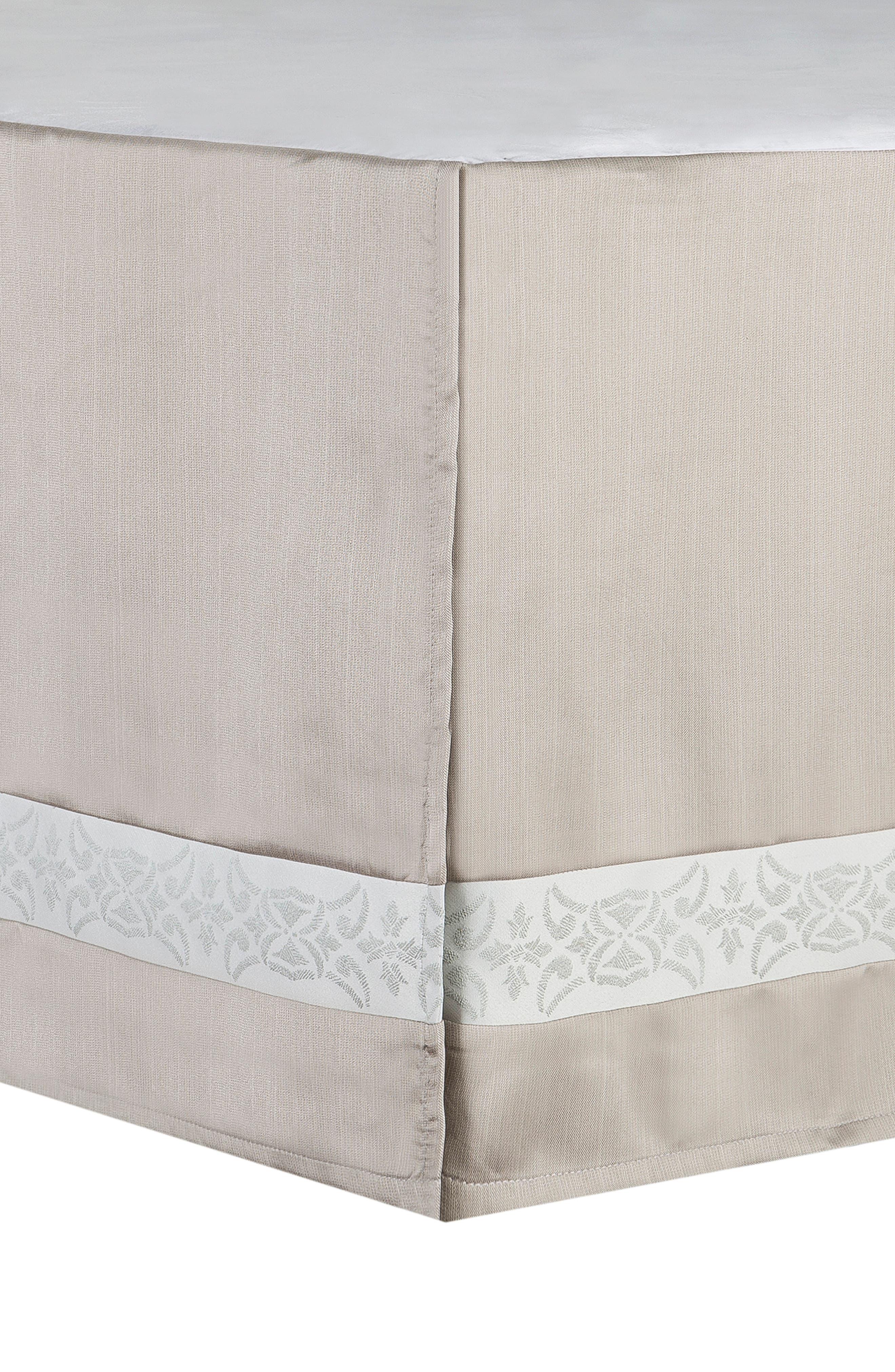Gwyneth Reversible Comforter, Sham & Bedskirt Set,                             Alternate thumbnail 4, color,                             PALE BLUE