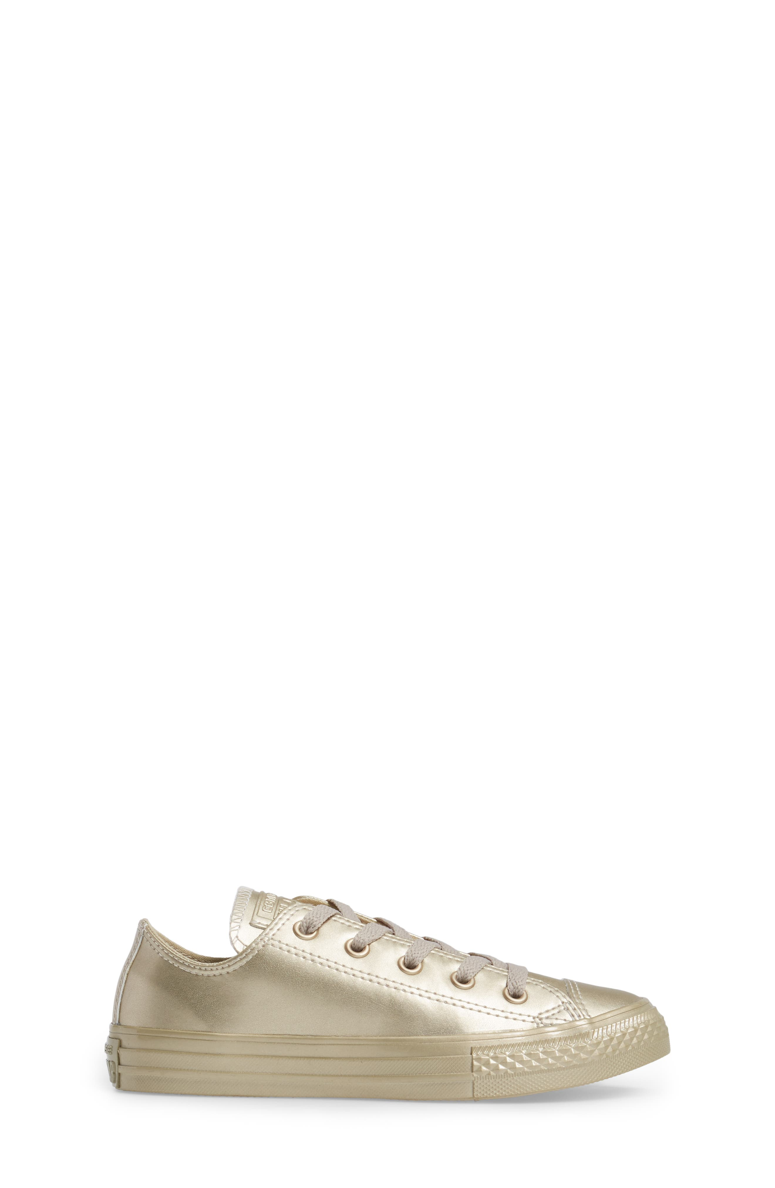 Chuck Taylor<sup>®</sup> All Star<sup>®</sup> Mono Metallic Low Top Sneaker,                             Alternate thumbnail 3, color,                             710