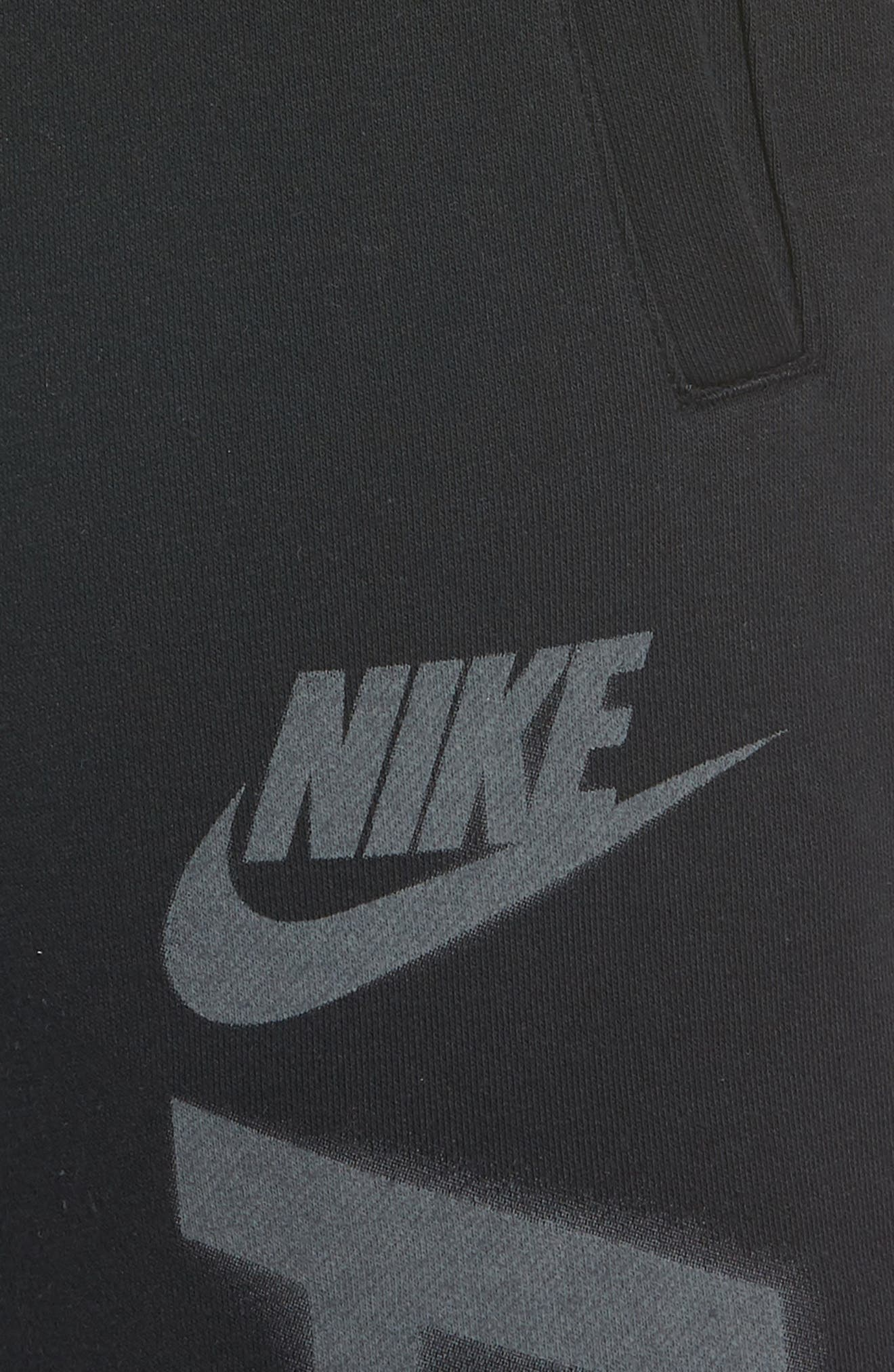 Sportswear Air Force 1 Jogger Pants,                             Alternate thumbnail 4, color,                             BLACK/ ANTHRACITE
