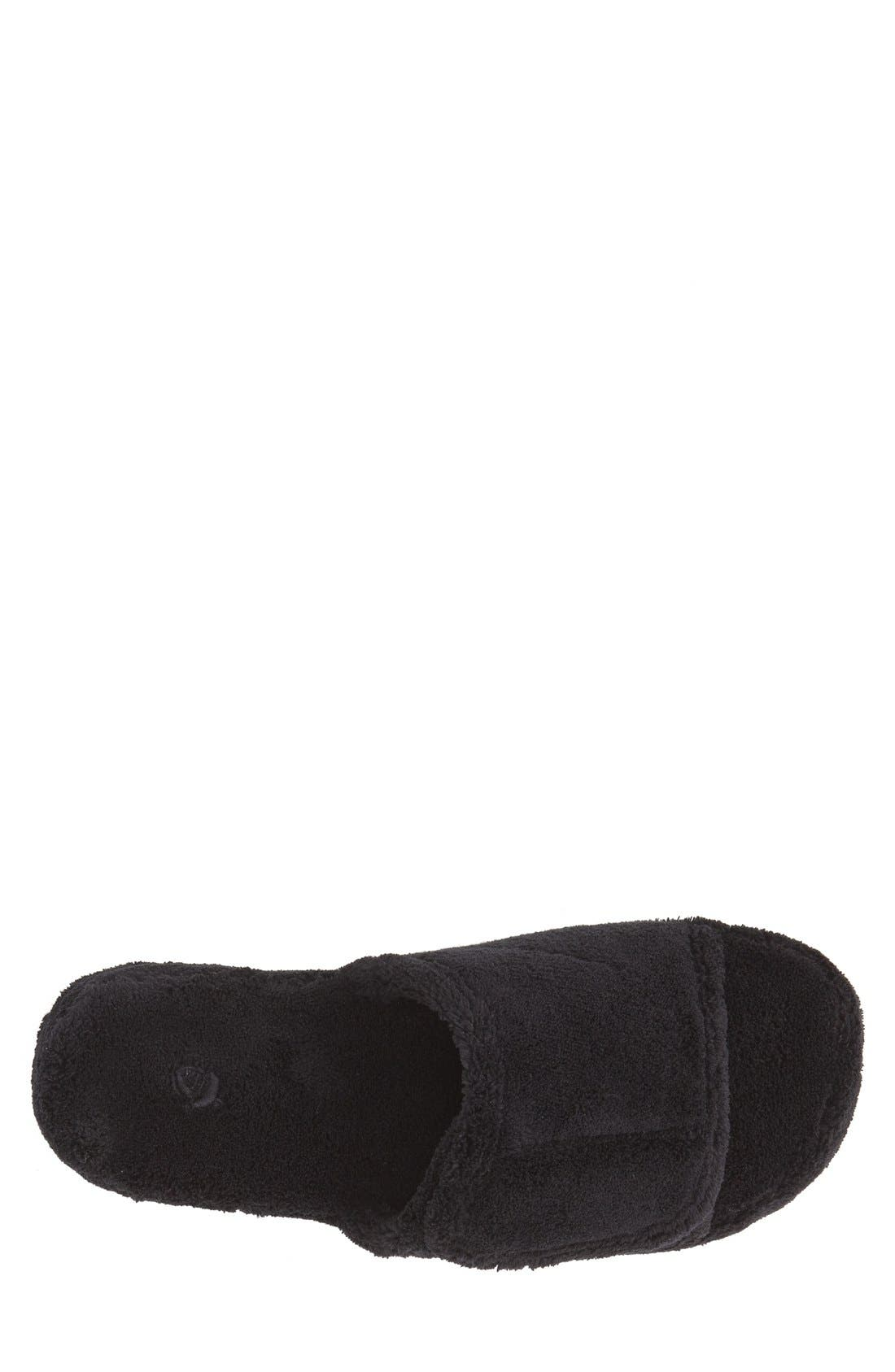 'Spa' Slipper,                             Alternate thumbnail 4, color,                             BLACK