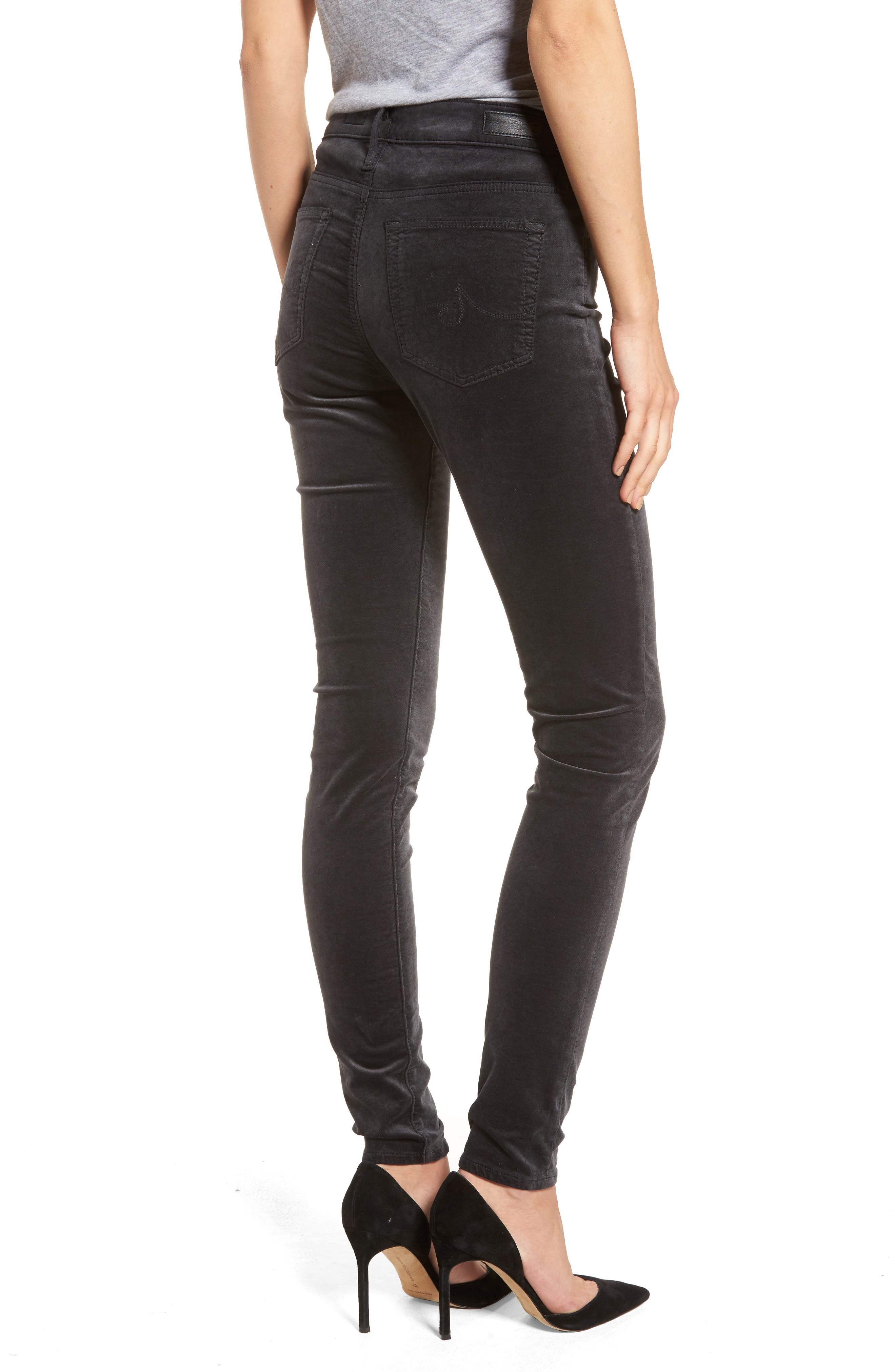 The Farrah High Waist Velvet Jeans,                             Alternate thumbnail 2, color,                             023