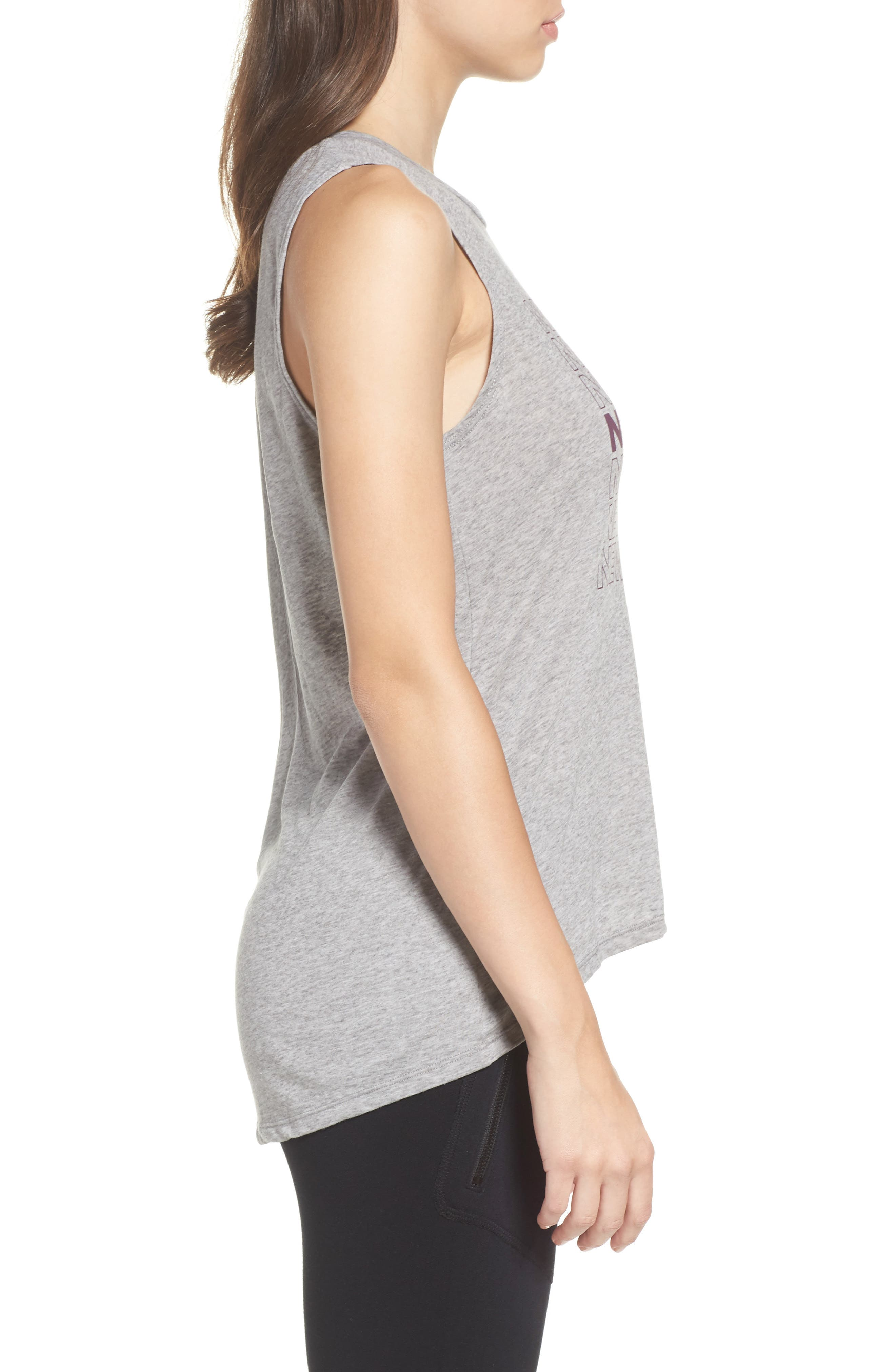 New York High/Low Muscle Tank,                             Alternate thumbnail 3, color,