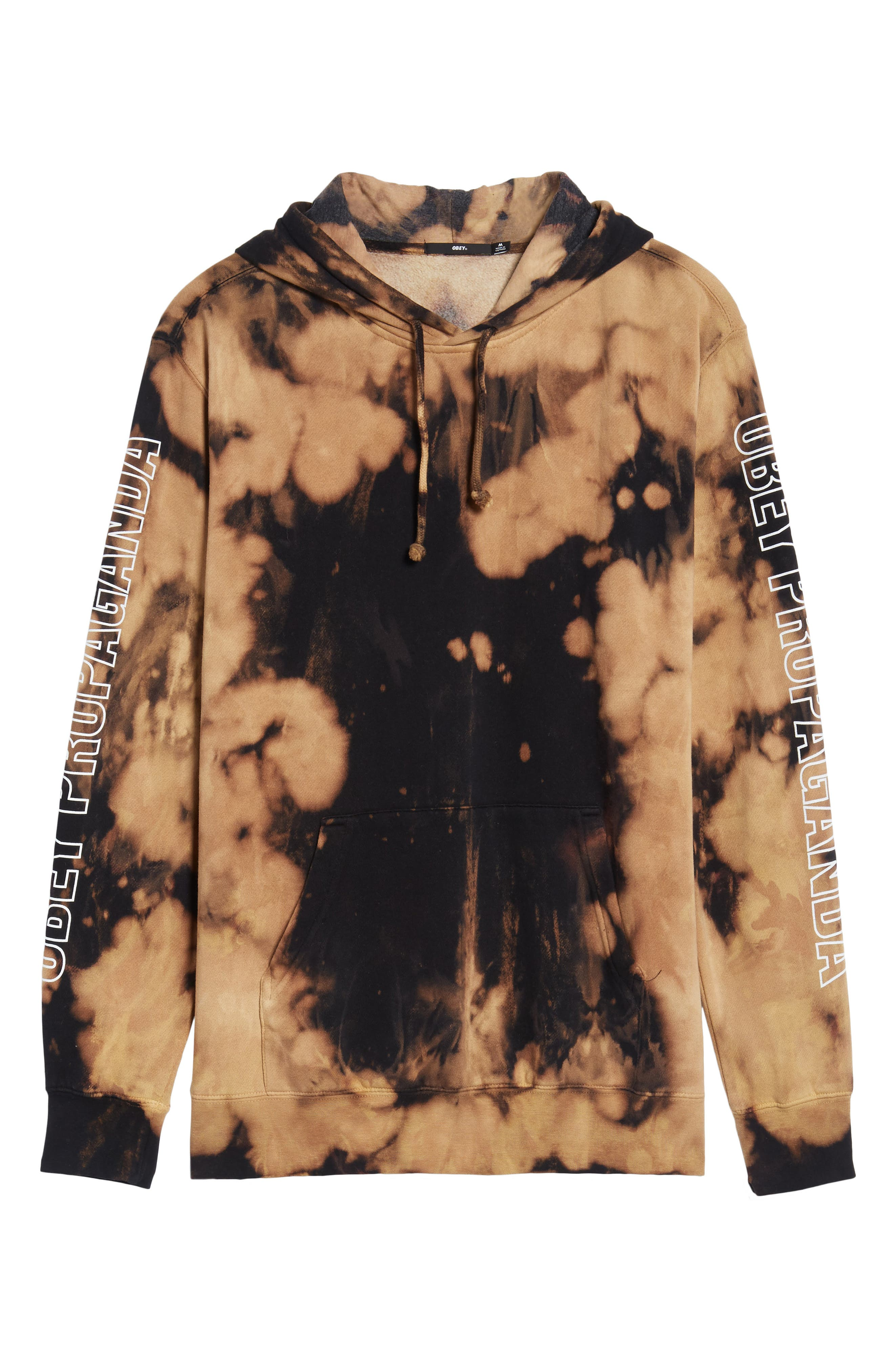 Rough Draft Tie Dye Fleece Hoodie,                             Alternate thumbnail 6, color,                             001