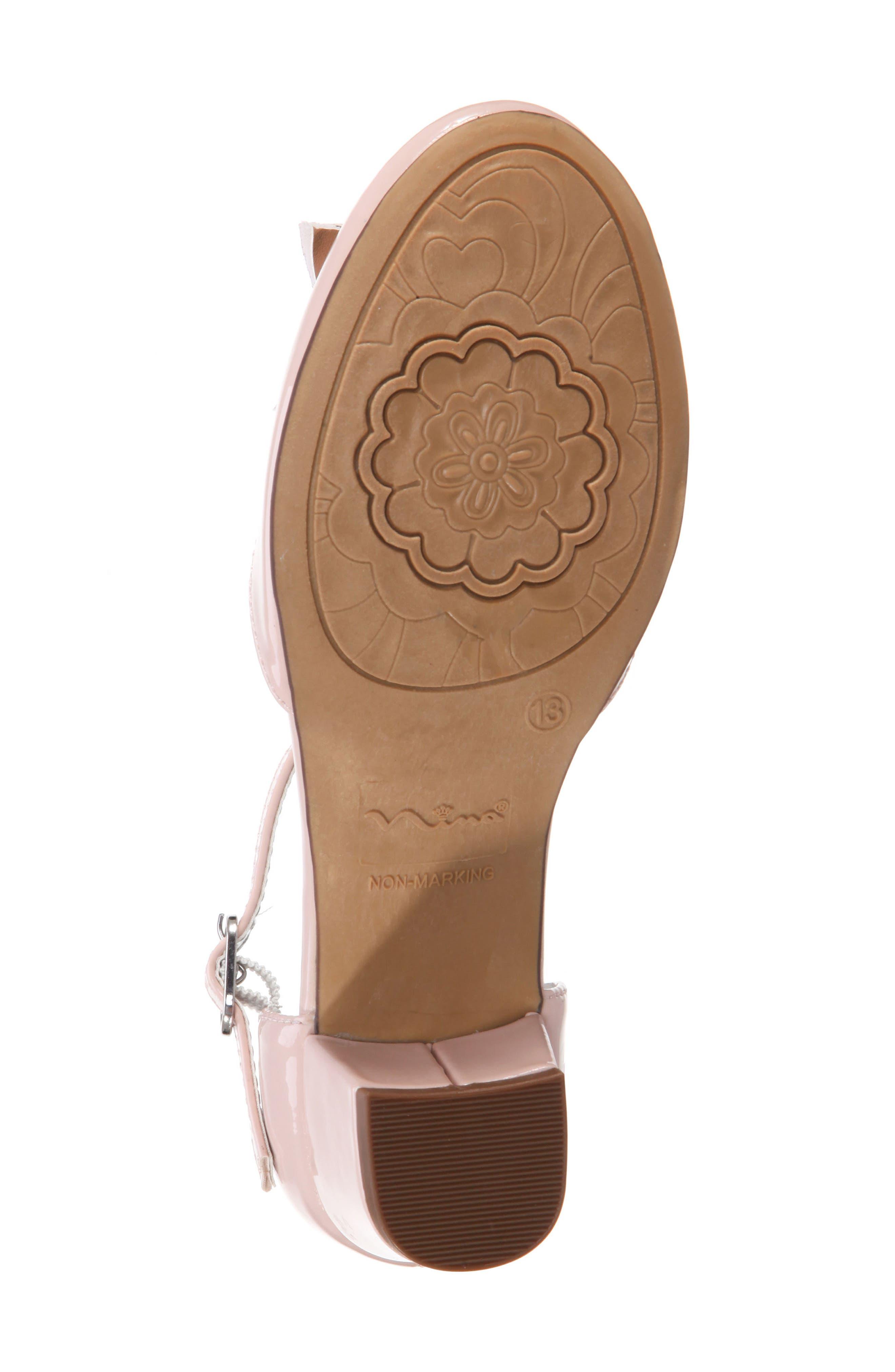 Marvette T-Strap Sandal,                             Alternate thumbnail 6, color,                             BLUSH PATENT