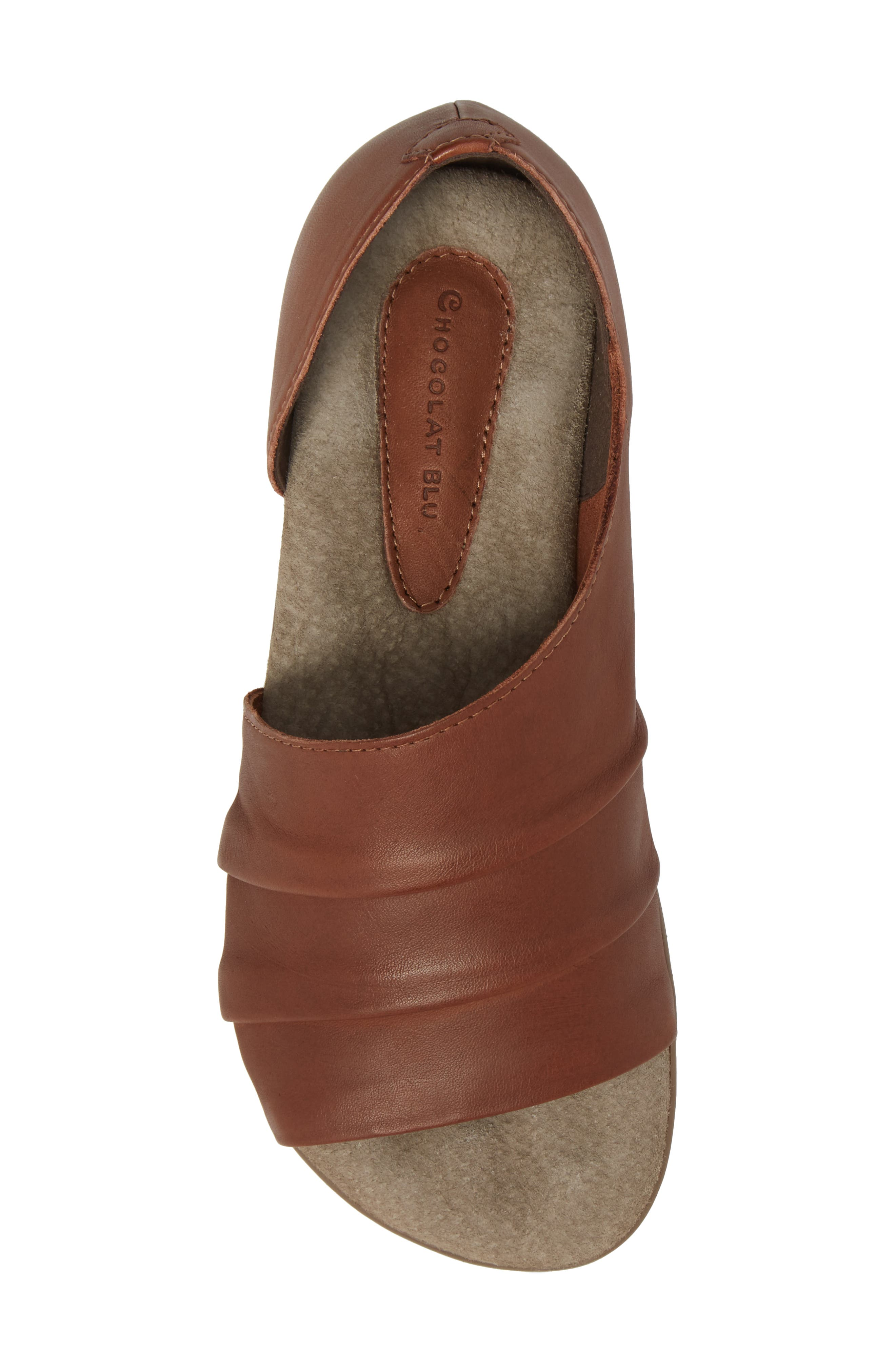 Bronte Flat,                             Alternate thumbnail 5, color,                             CAMEL LEATHER