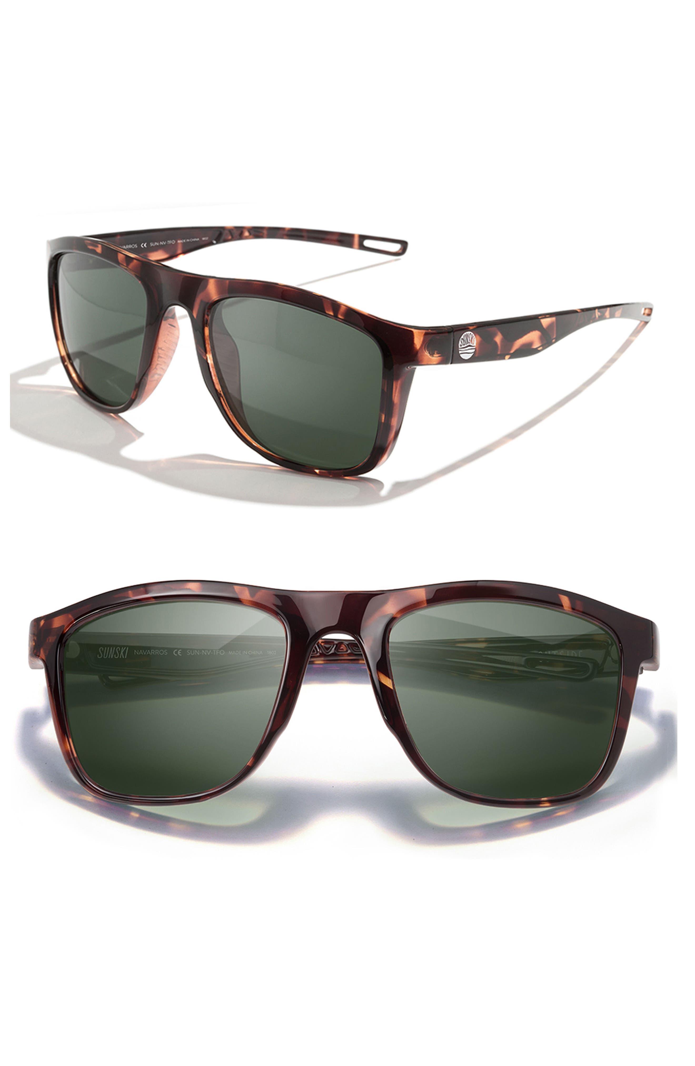 Navarros 53mm Polarized Sunglasses,                             Main thumbnail 1, color,                             TORTOISE FOREST