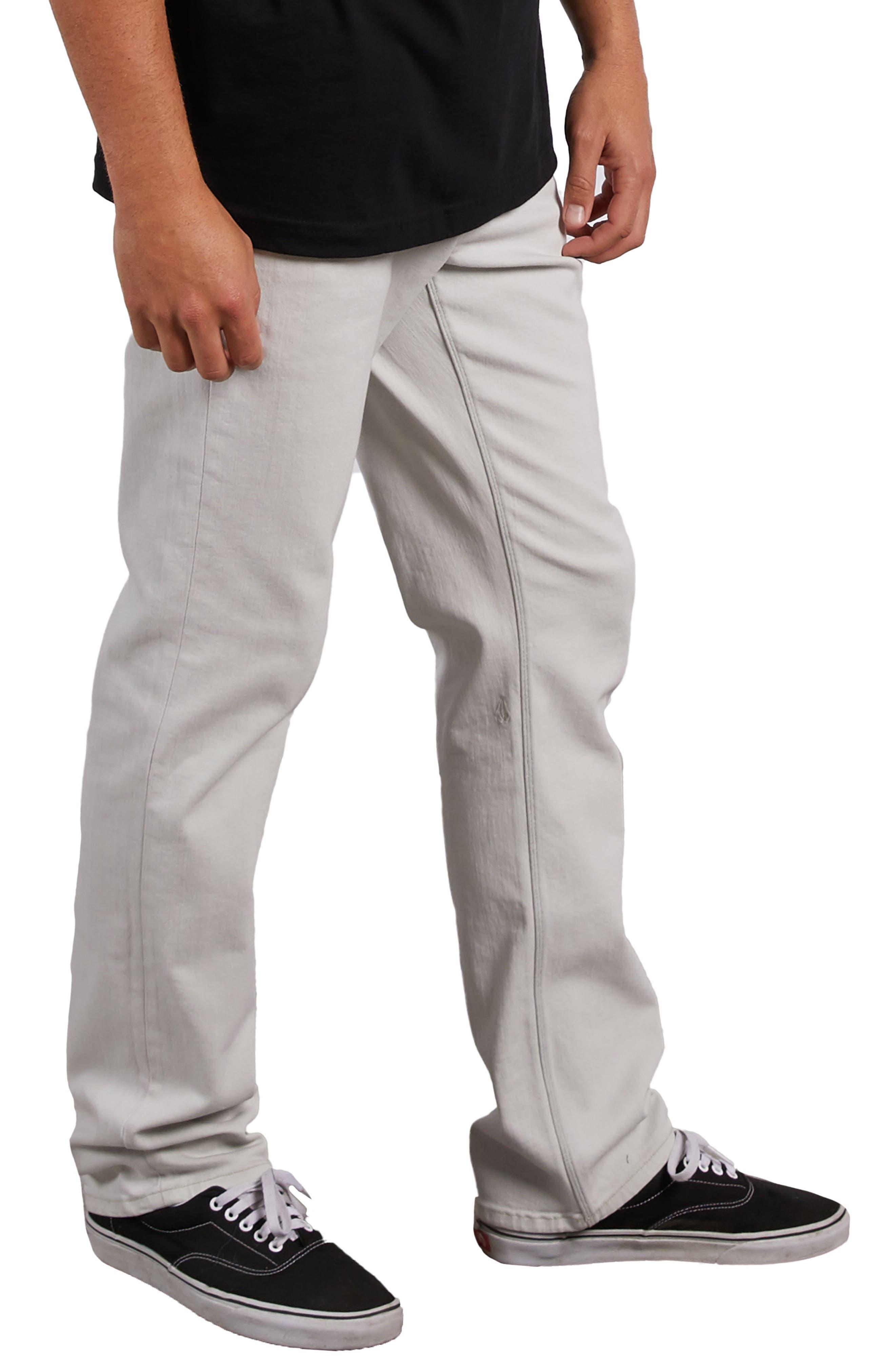 Solver Straight Leg Jeans,                             Alternate thumbnail 3, color,                             DIRTY WHITE