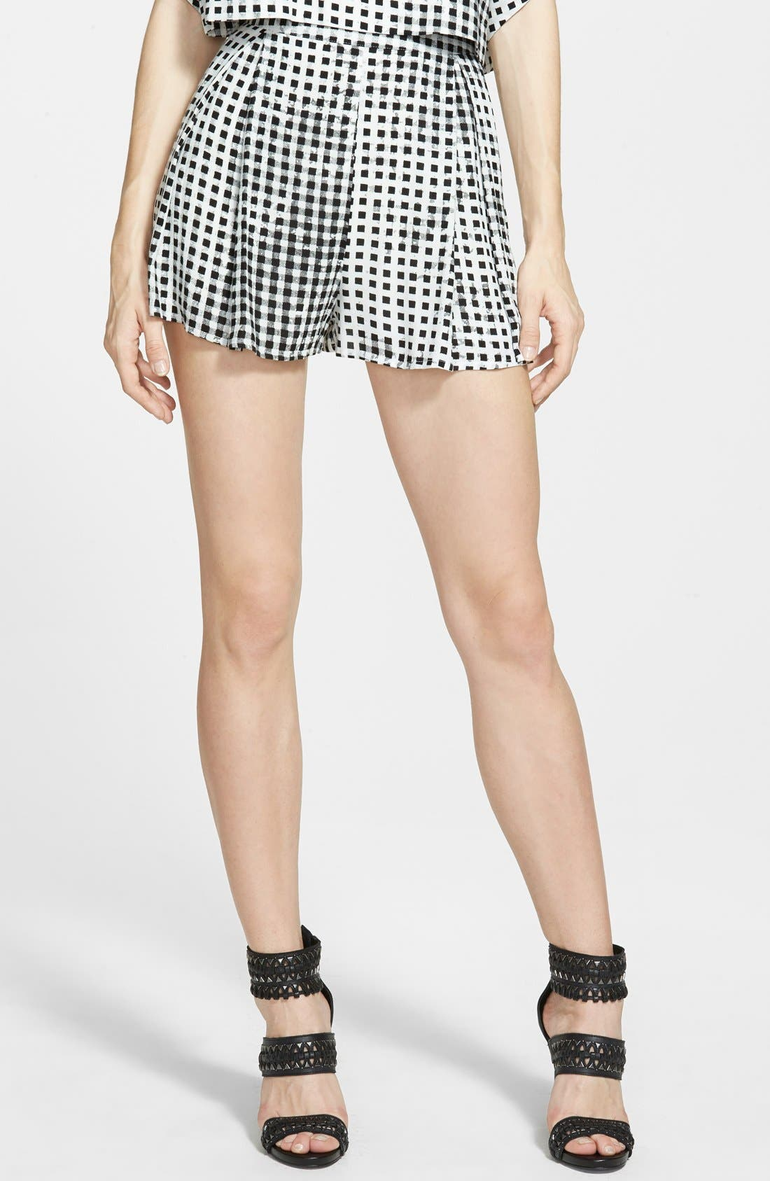 Gingham Shorts,                         Main,                         color, 001