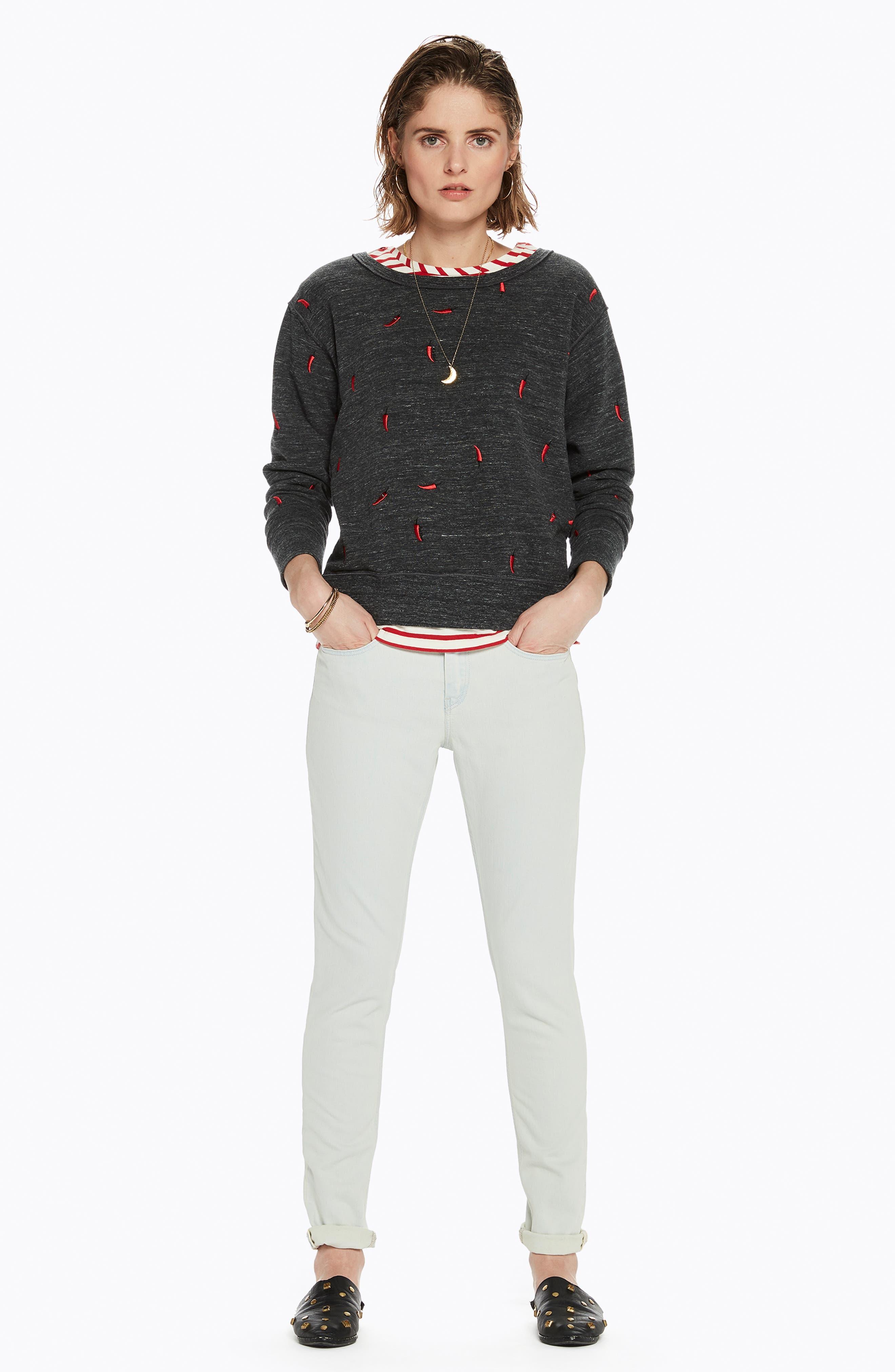 Chili Pepper Crewneck Sweatshirt,                             Alternate thumbnail 8, color,                             021