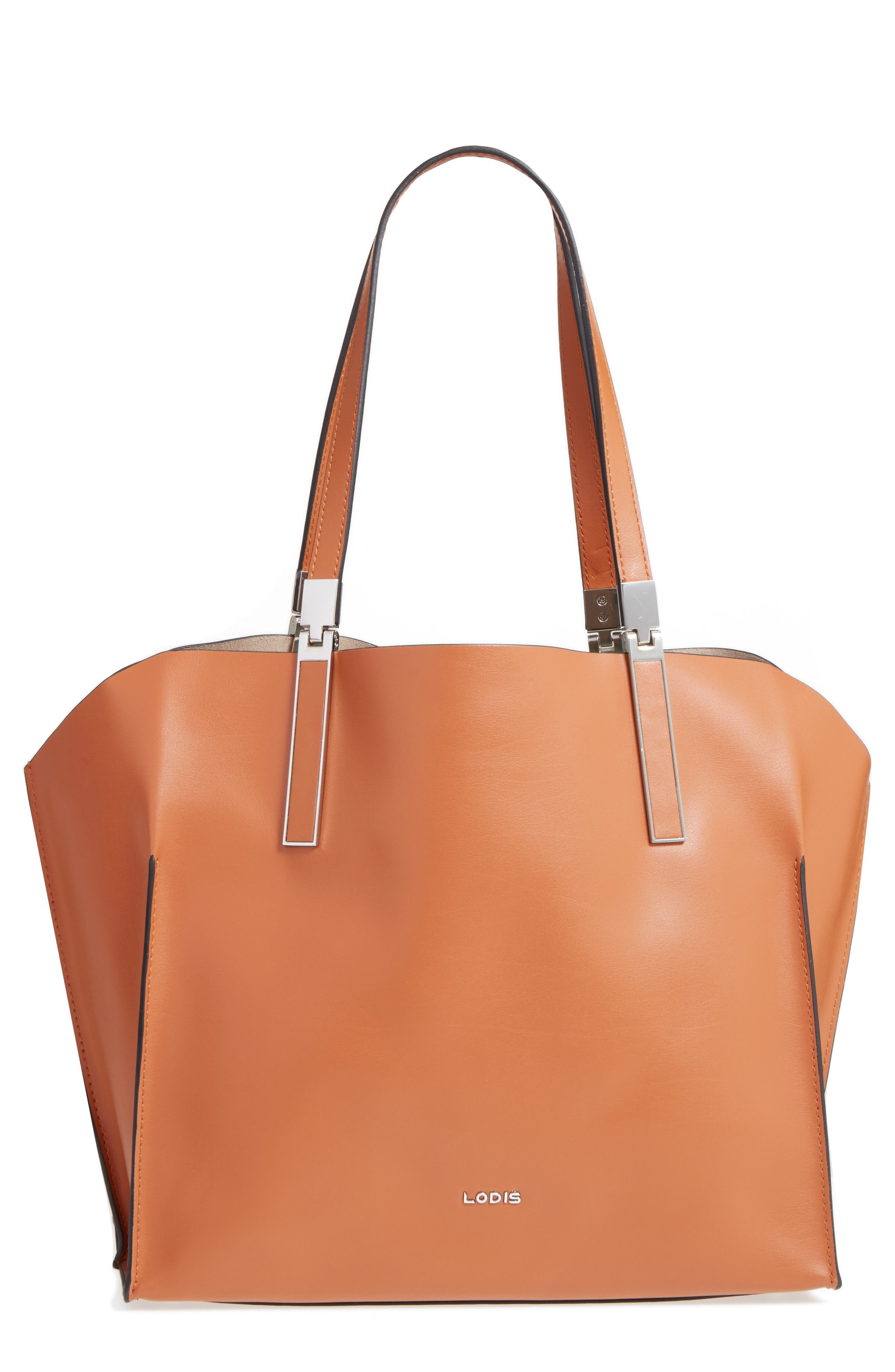 LODIS Silicon Valley Collection Under Lock & Key - Anita RFID East/West Leather Satchel,                             Main thumbnail 2, color,