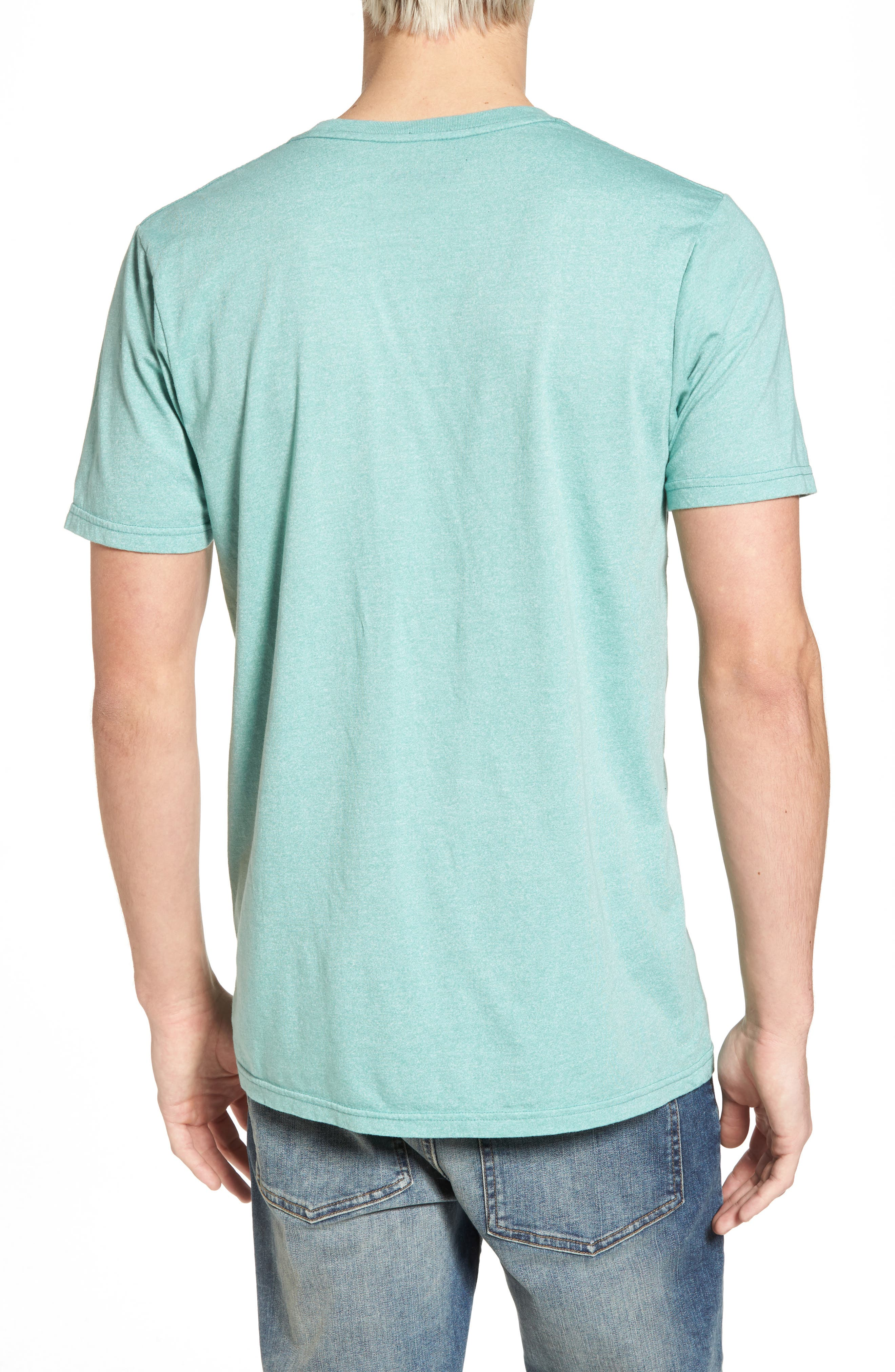 Accelerate Mock Twist T-Shirt,                             Alternate thumbnail 2, color,                             GREEN